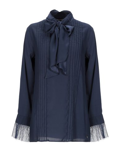 Купить Женскую блузку SCEE by TWINSET темно-синего цвета