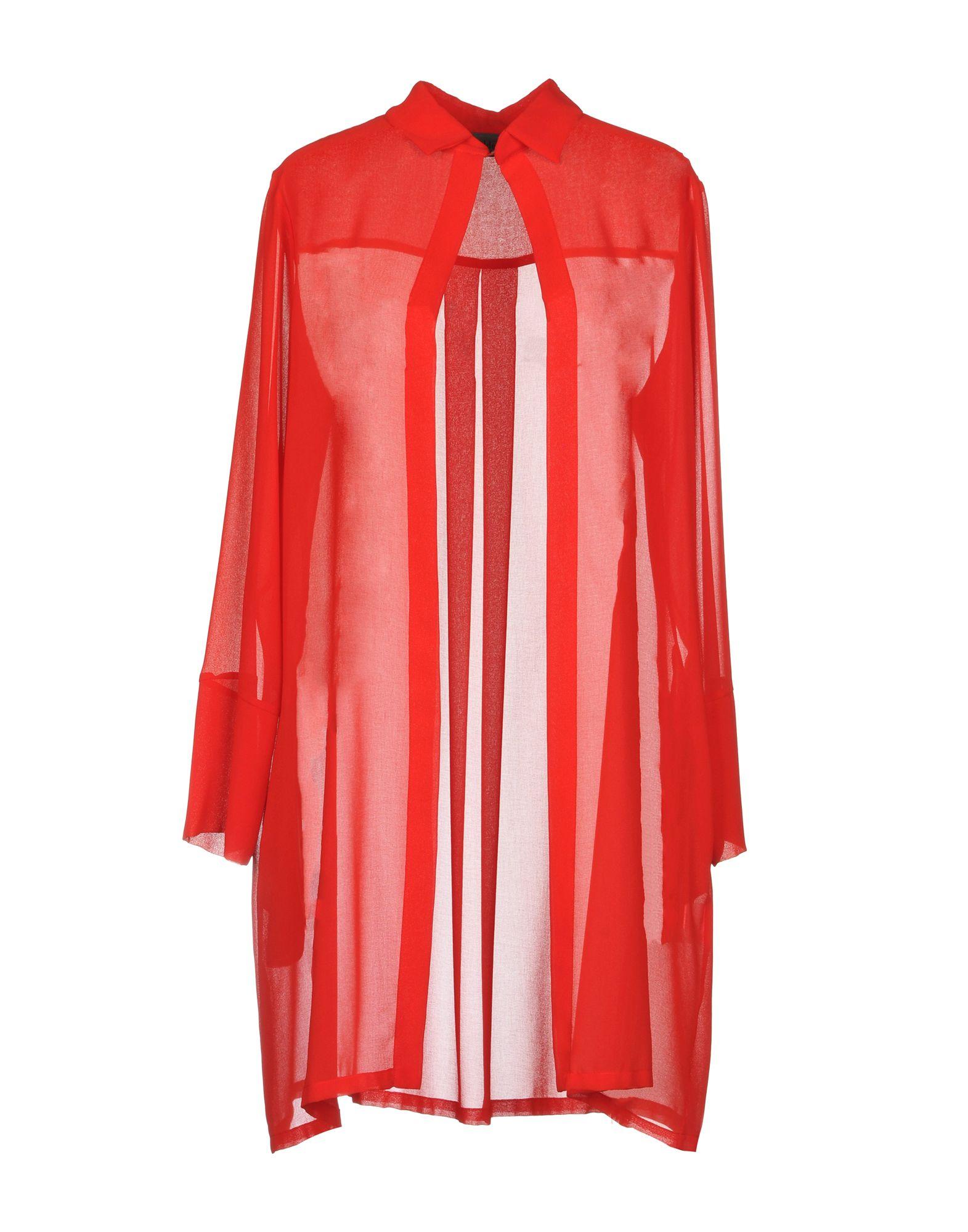 MARIA CALDERARA Solid Color Shirts & Blouses in Red