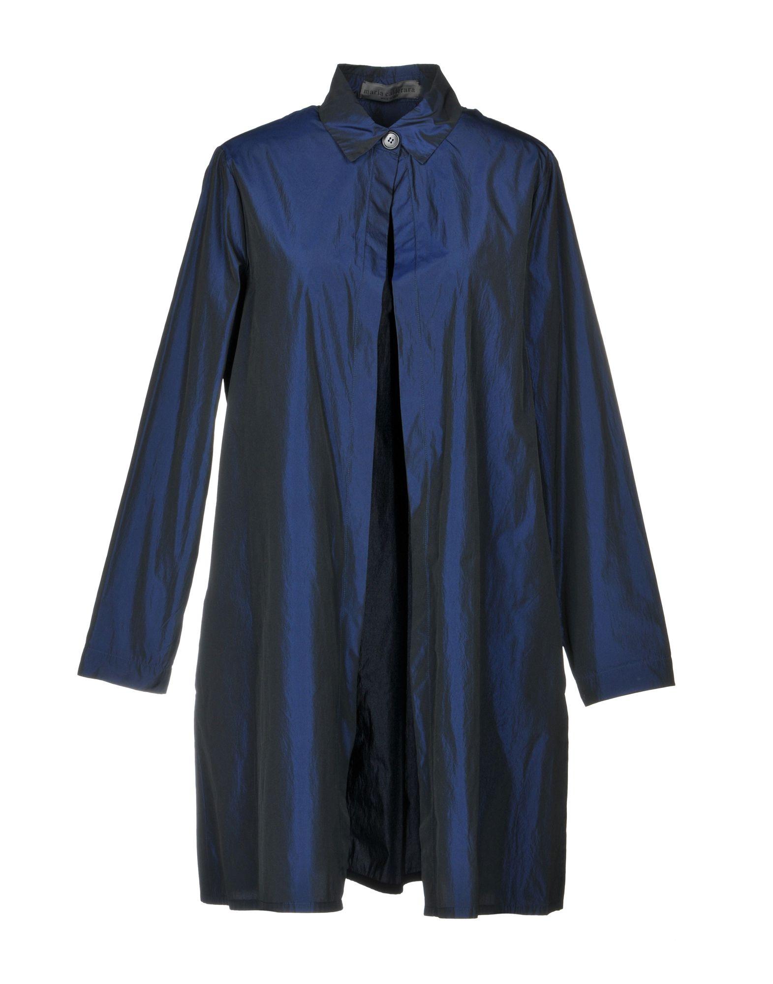 MARIA CALDERARA Full-Length Jacket in Blue
