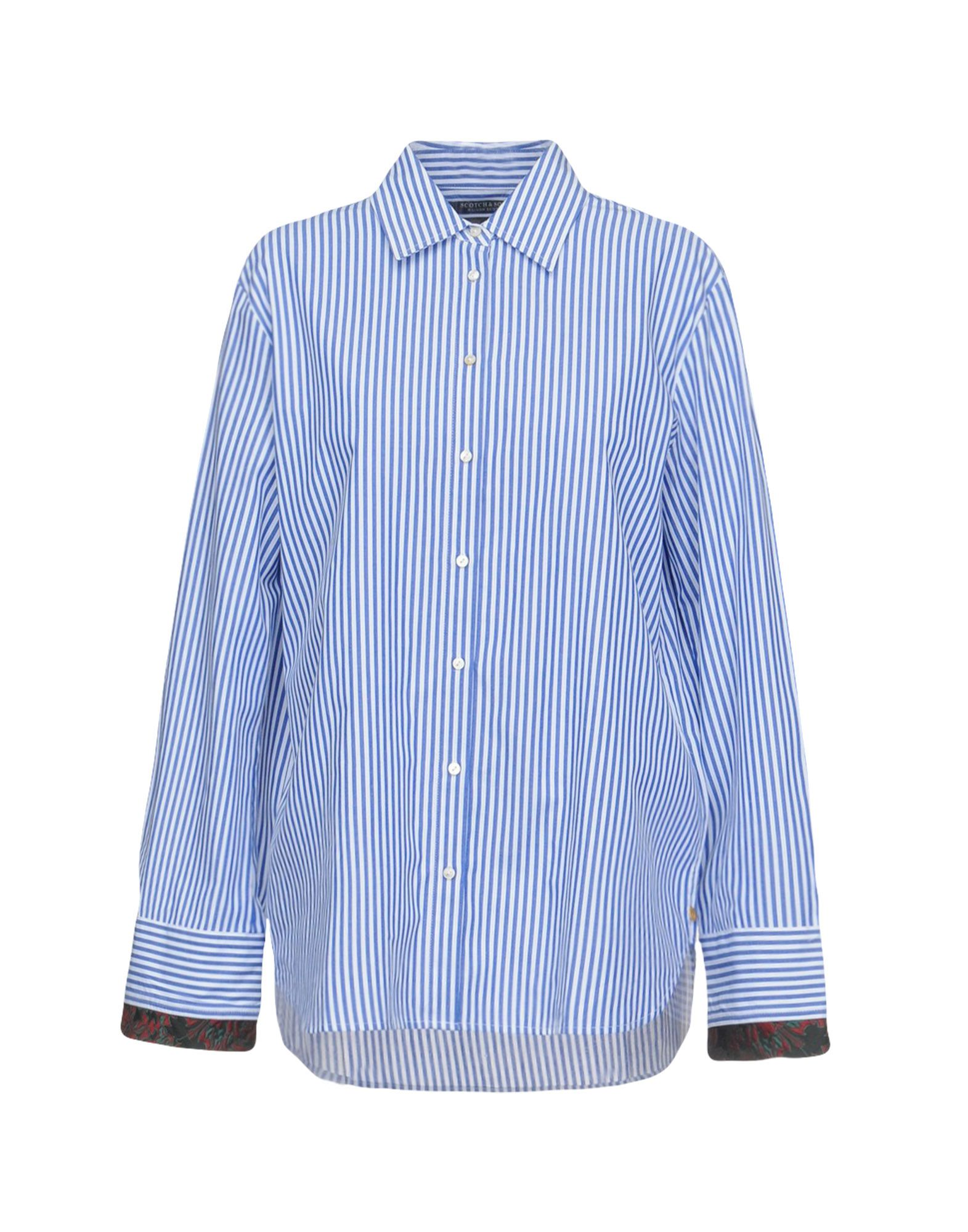 MAISON SCOTCH Striped Shirt in Blue