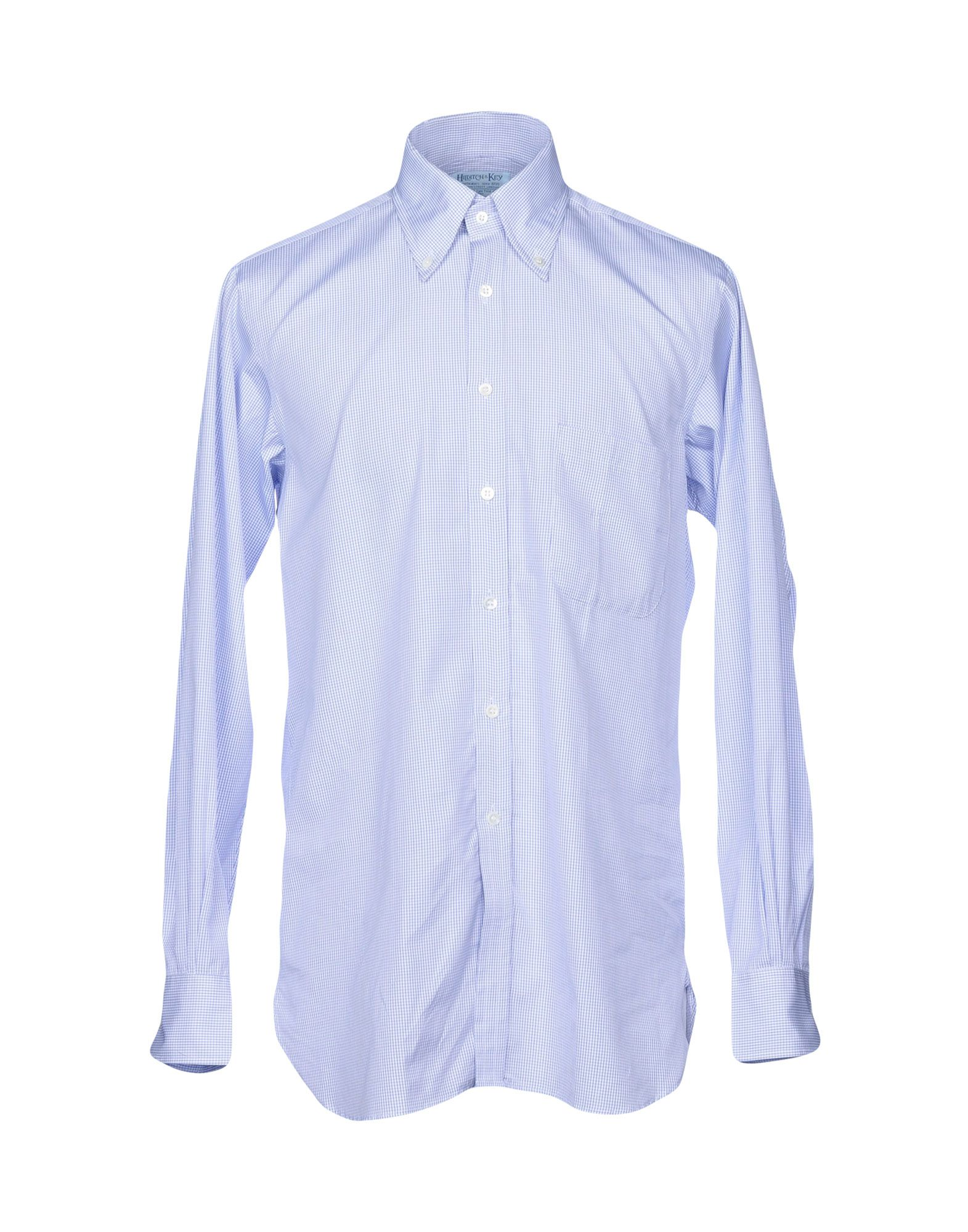 HILDITCH & KEY Checked Shirt in Blue