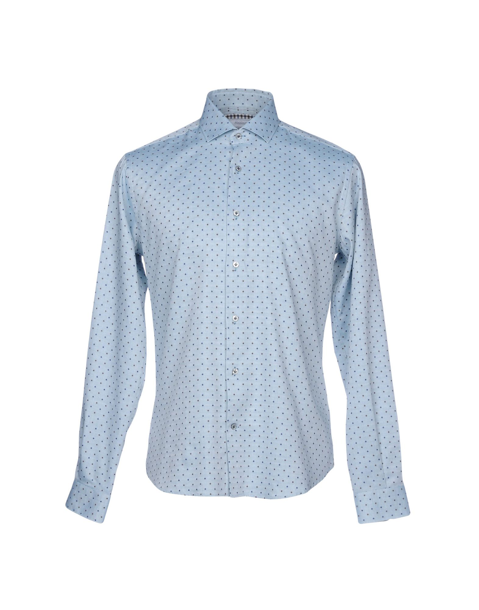 POGGIANTI Patterned Shirt in Pastel Blue