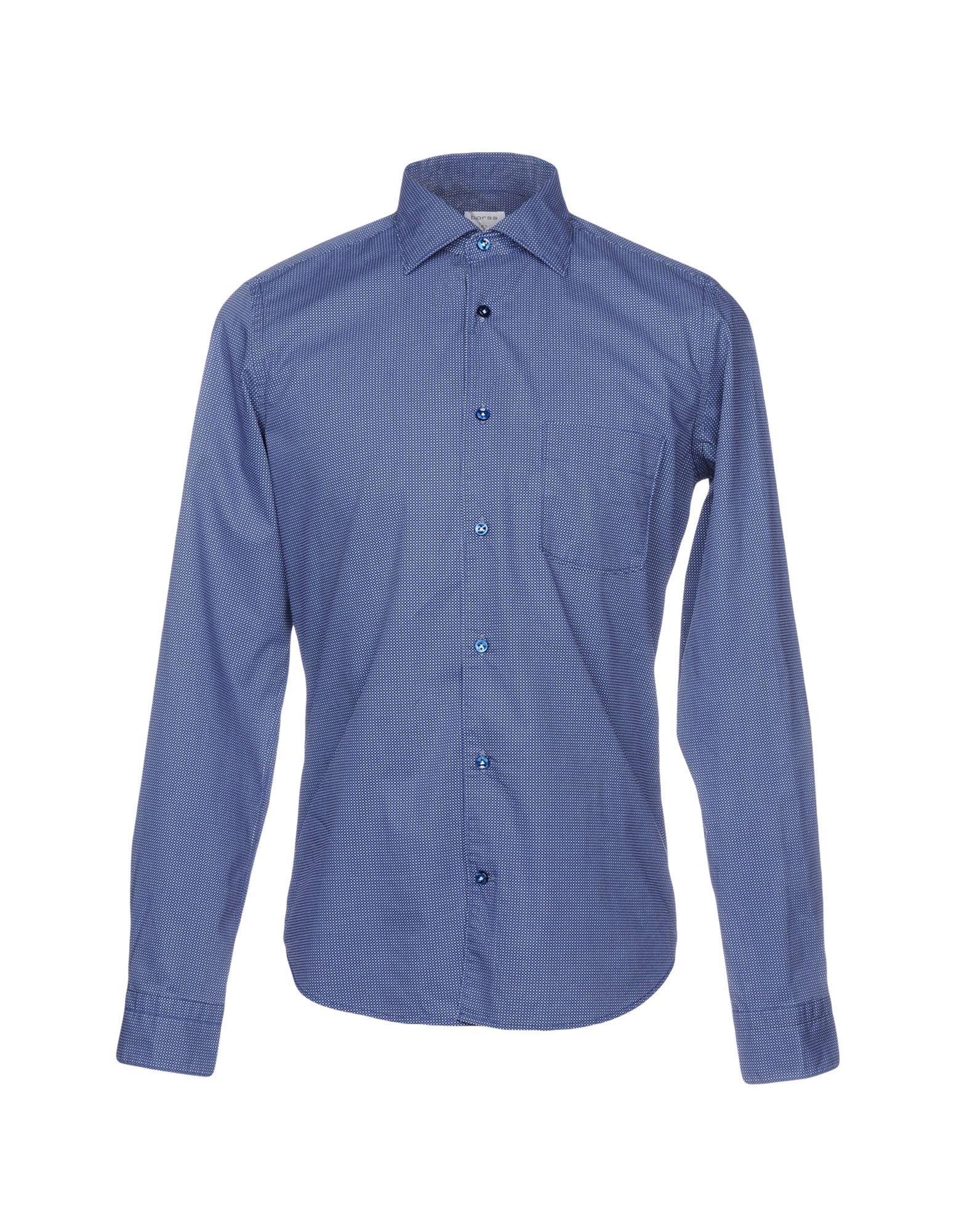 BORSA Patterned Shirt in Blue
