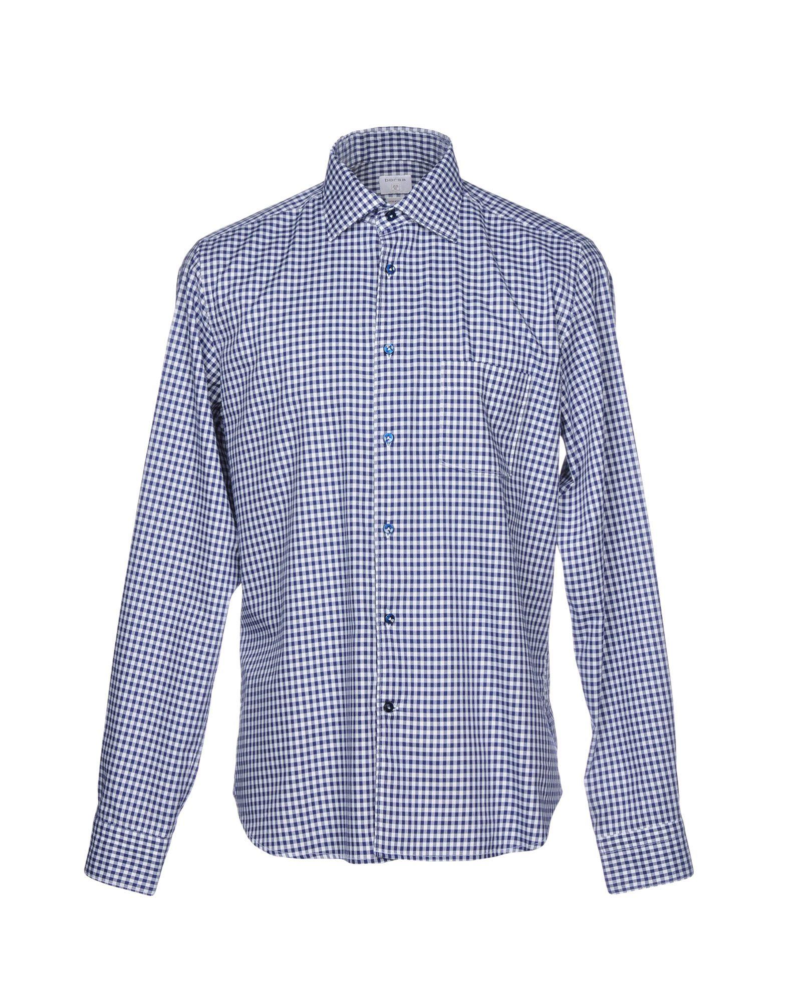 BORSA Checked Shirt in Blue