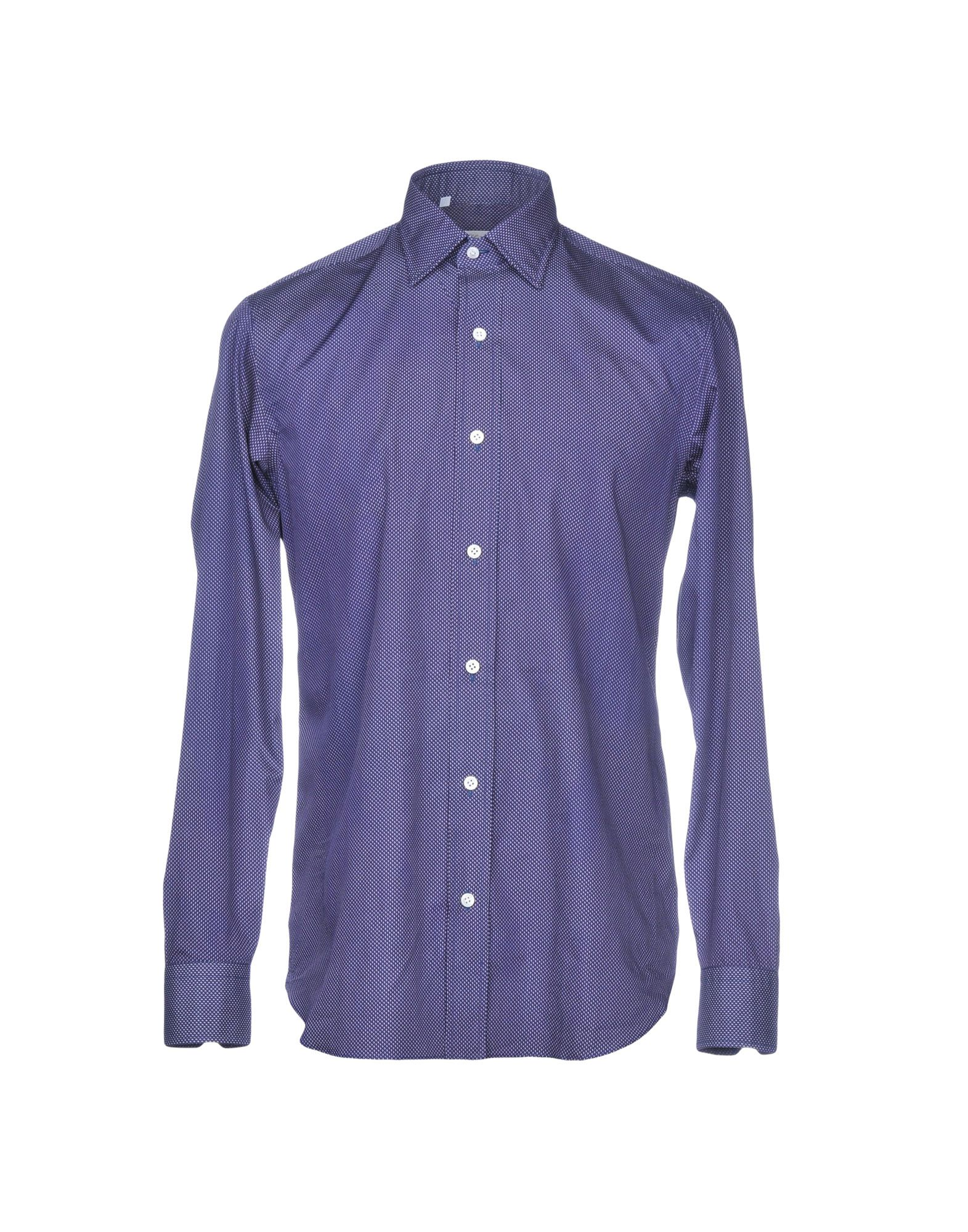 SALVATORE PICCOLO Patterned Shirt in Dark Blue