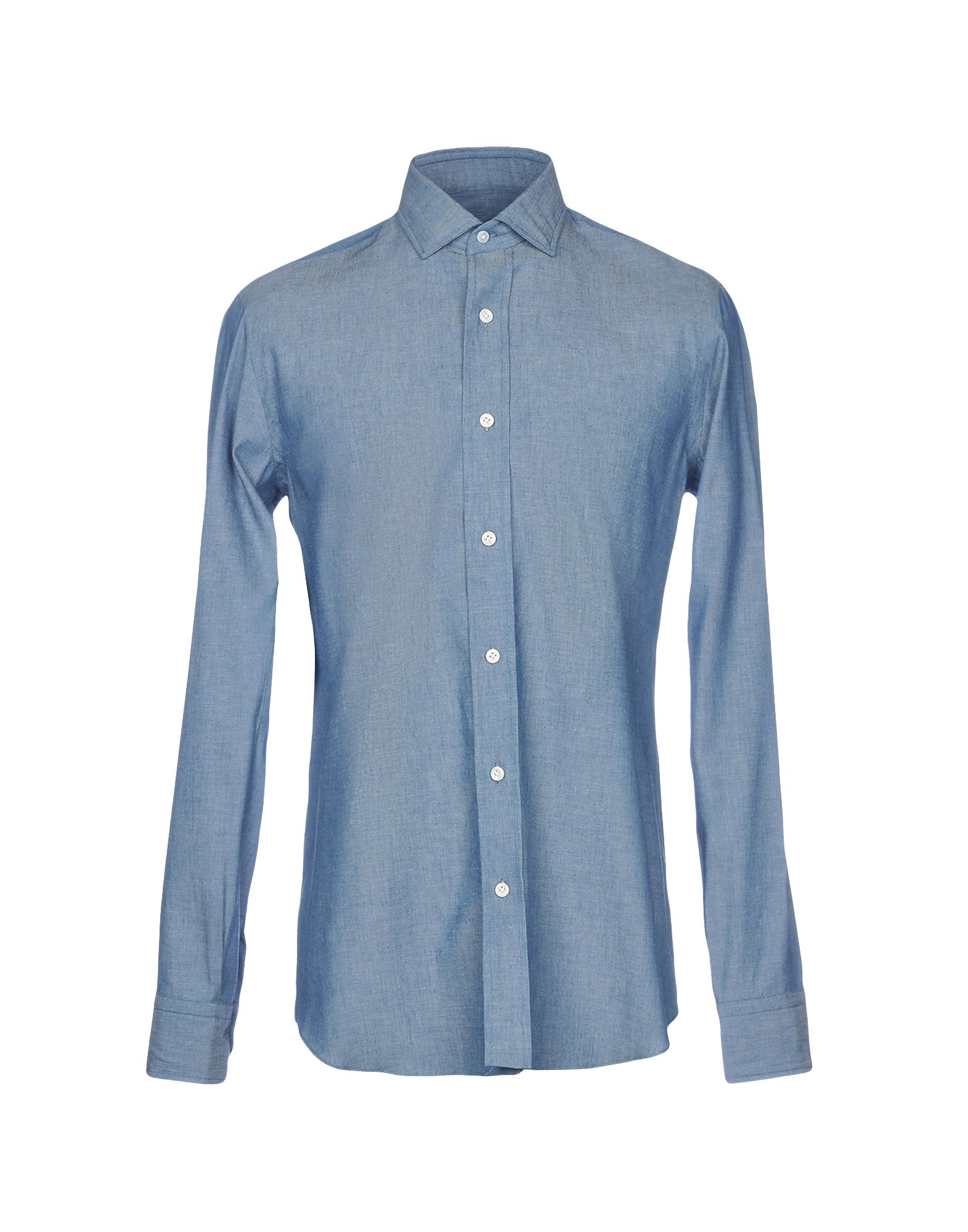 SALVATORE PICCOLO Solid Color Shirt in Blue