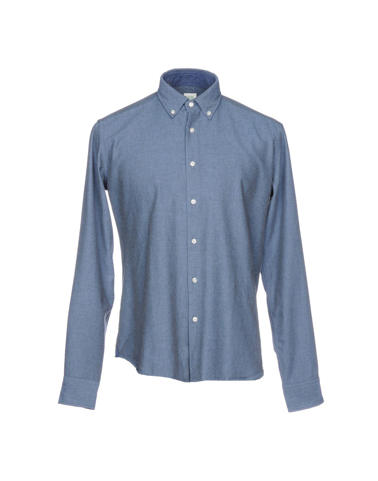 《送料無料》0575 by INGHIRAMI メンズ シャツ ブルーグレー 38 コットン 100%