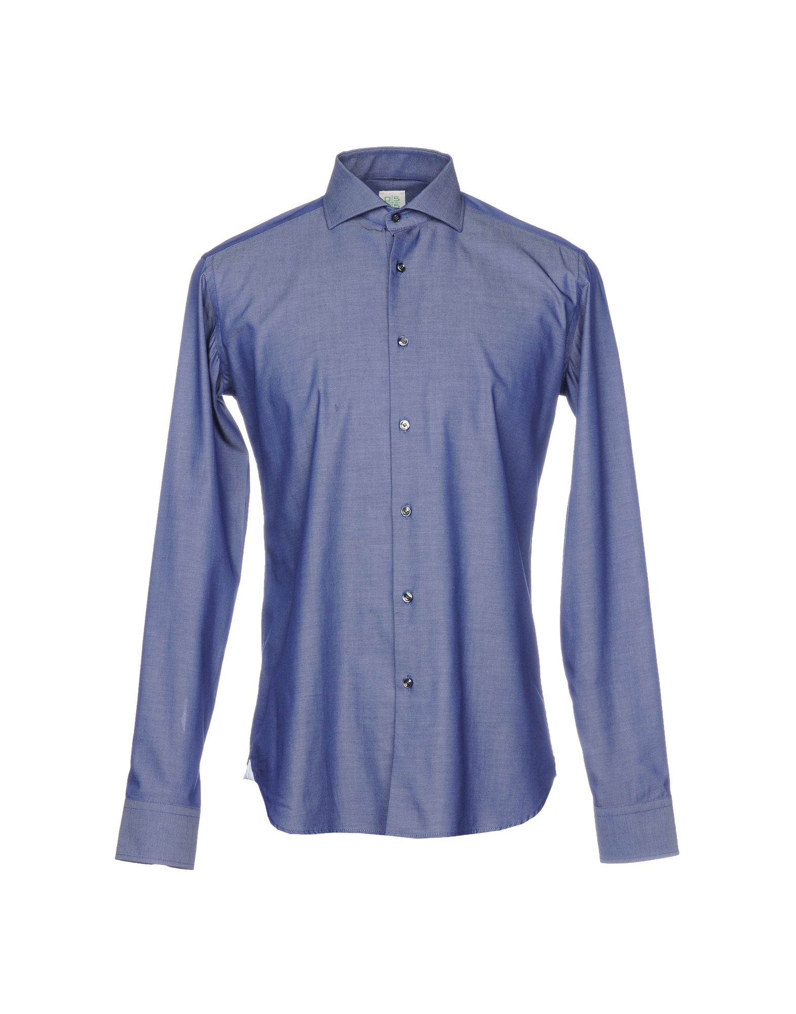 《送料無料》0575 by INGHIRAMI メンズ シャツ ダークブルー 39 コットン 100%