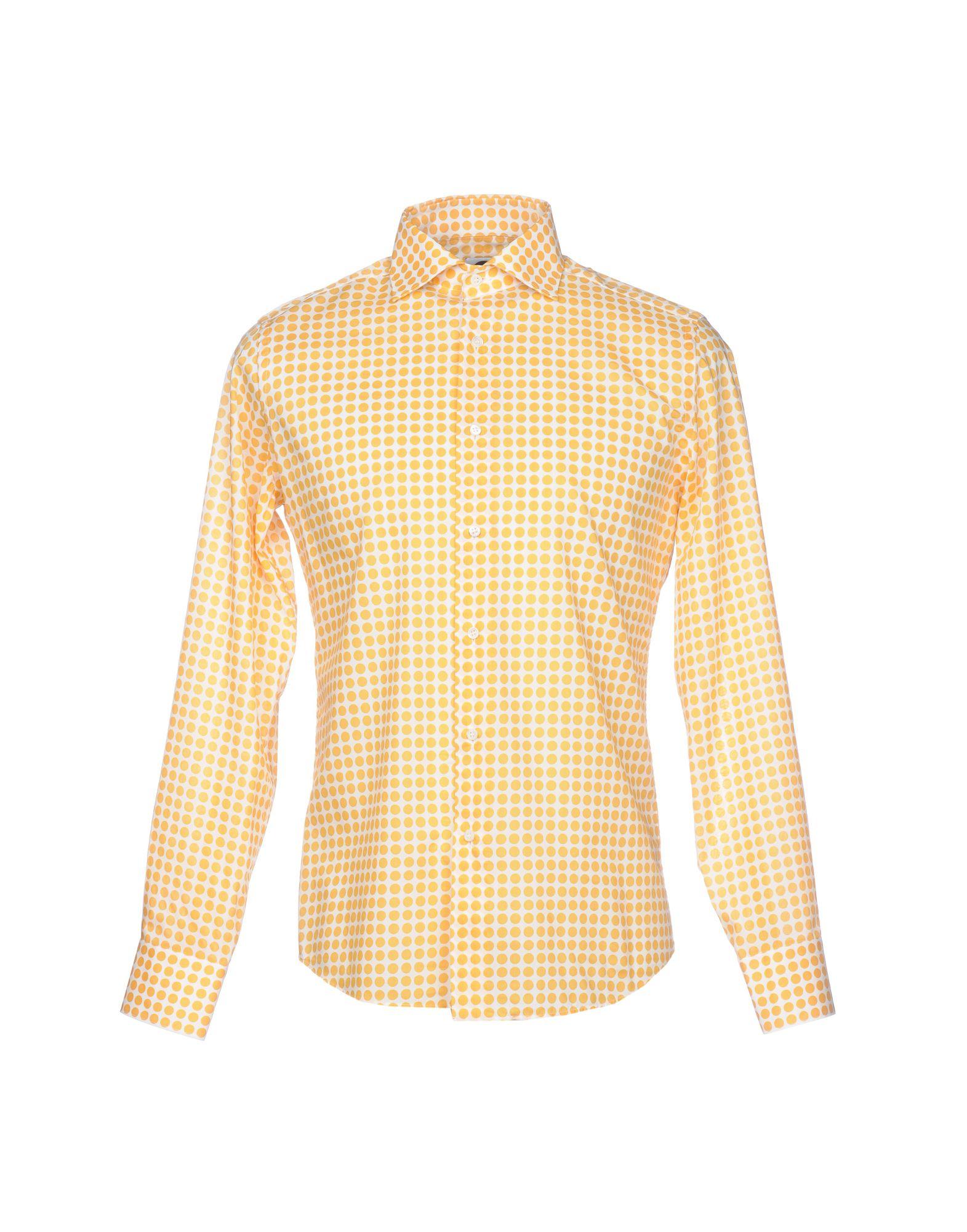 《送料無料》BAGUTTA メンズ シャツ オークル 36 コットン 100%