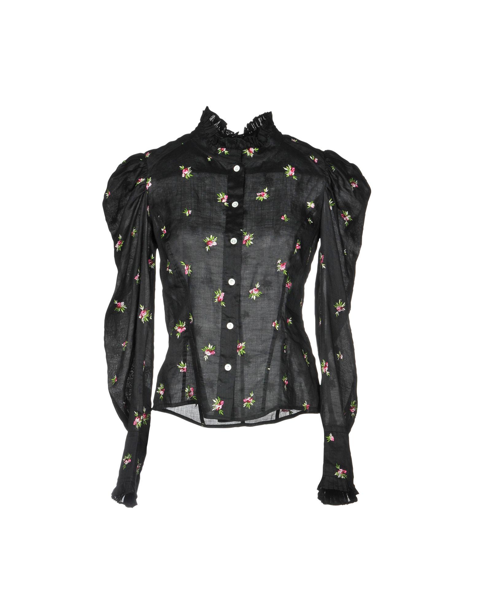 《送料無料》ISABEL MARANT レディース シャツ ブラック 40 ラミー 100% / レーヨン