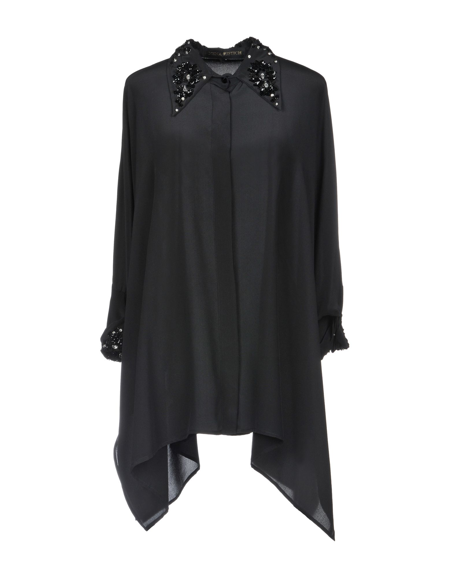 NENA RISTICH Silk Shirts & Blouses in Black