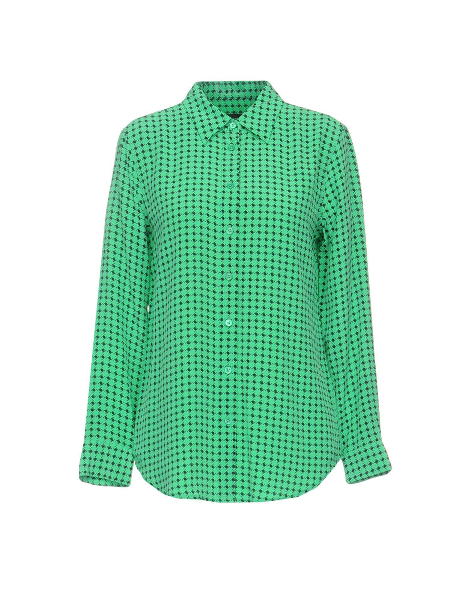 《送料無料》KATE MOSS EQUIPMENT レディース シャツ ライトグリーン XS シルク 100%