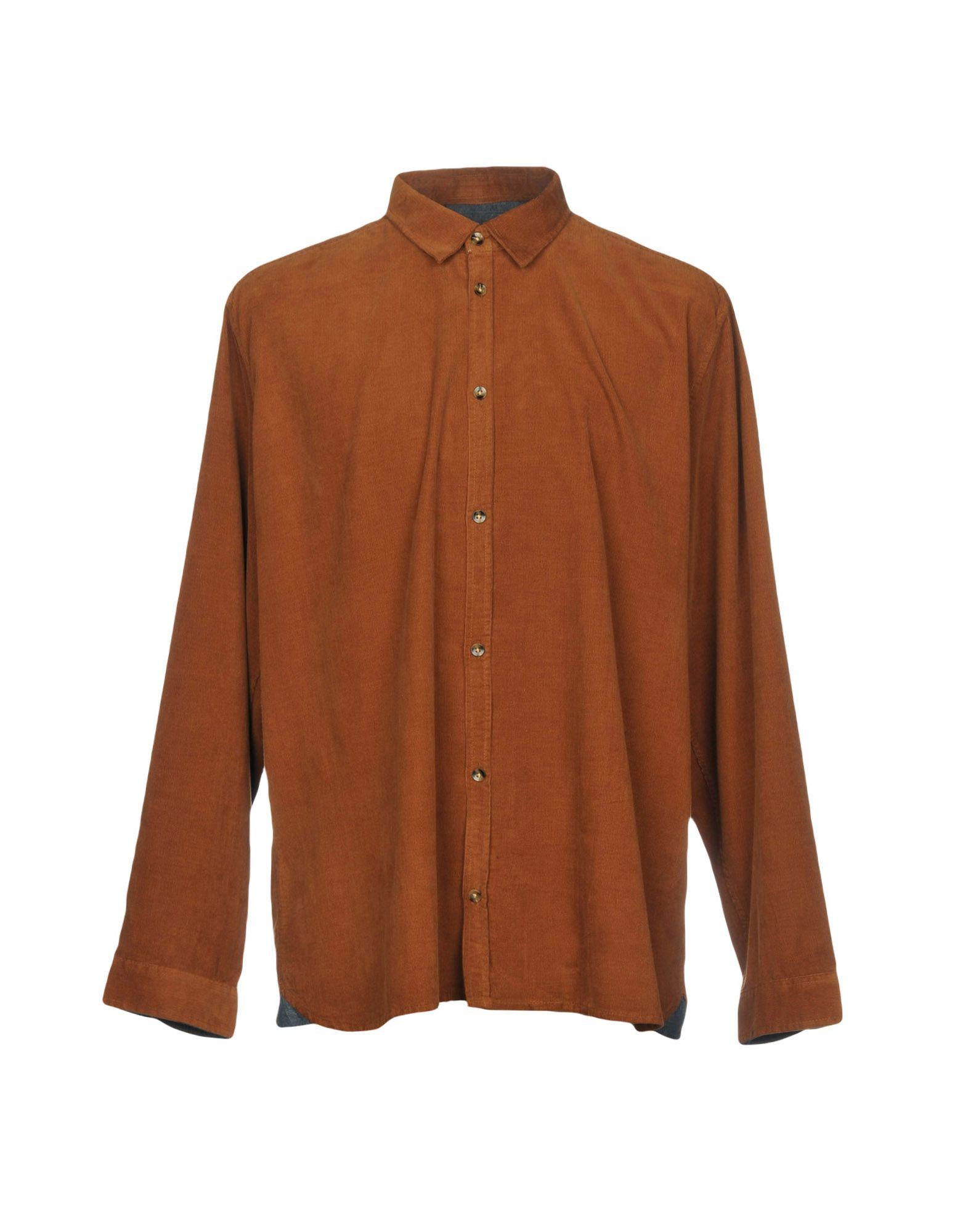 《送料無料》SUIT メンズ シャツ ブラウン S コットン 100%