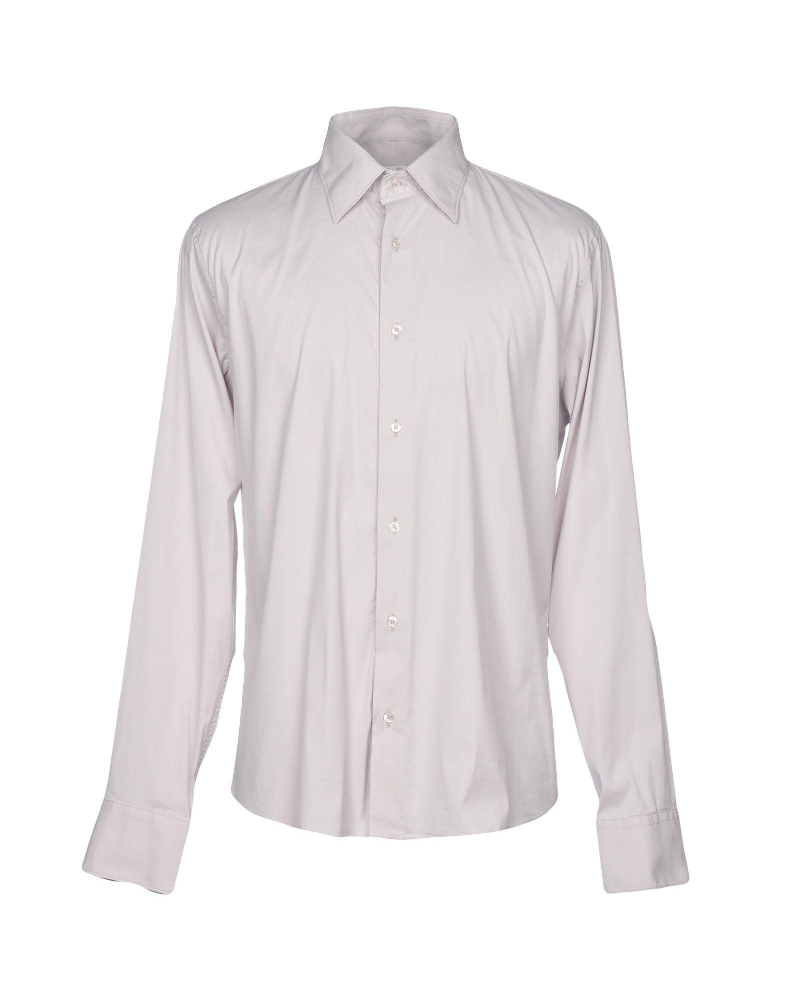 ROBERT FRIEDMAN Solid Color Shirt in Light Grey