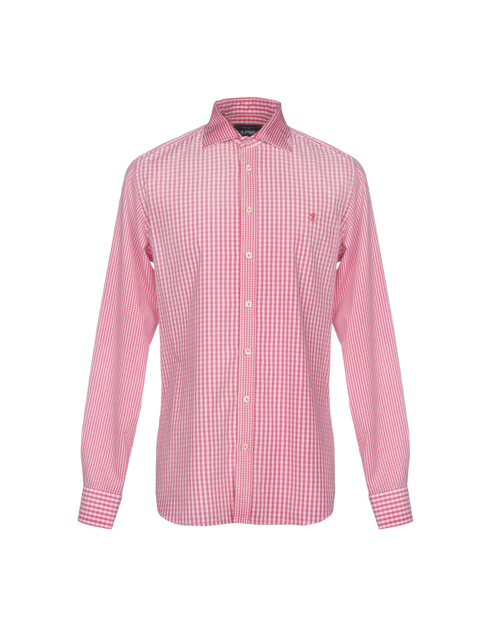 《送料無料》JAGGY メンズ シャツ フューシャ L コットン 100%