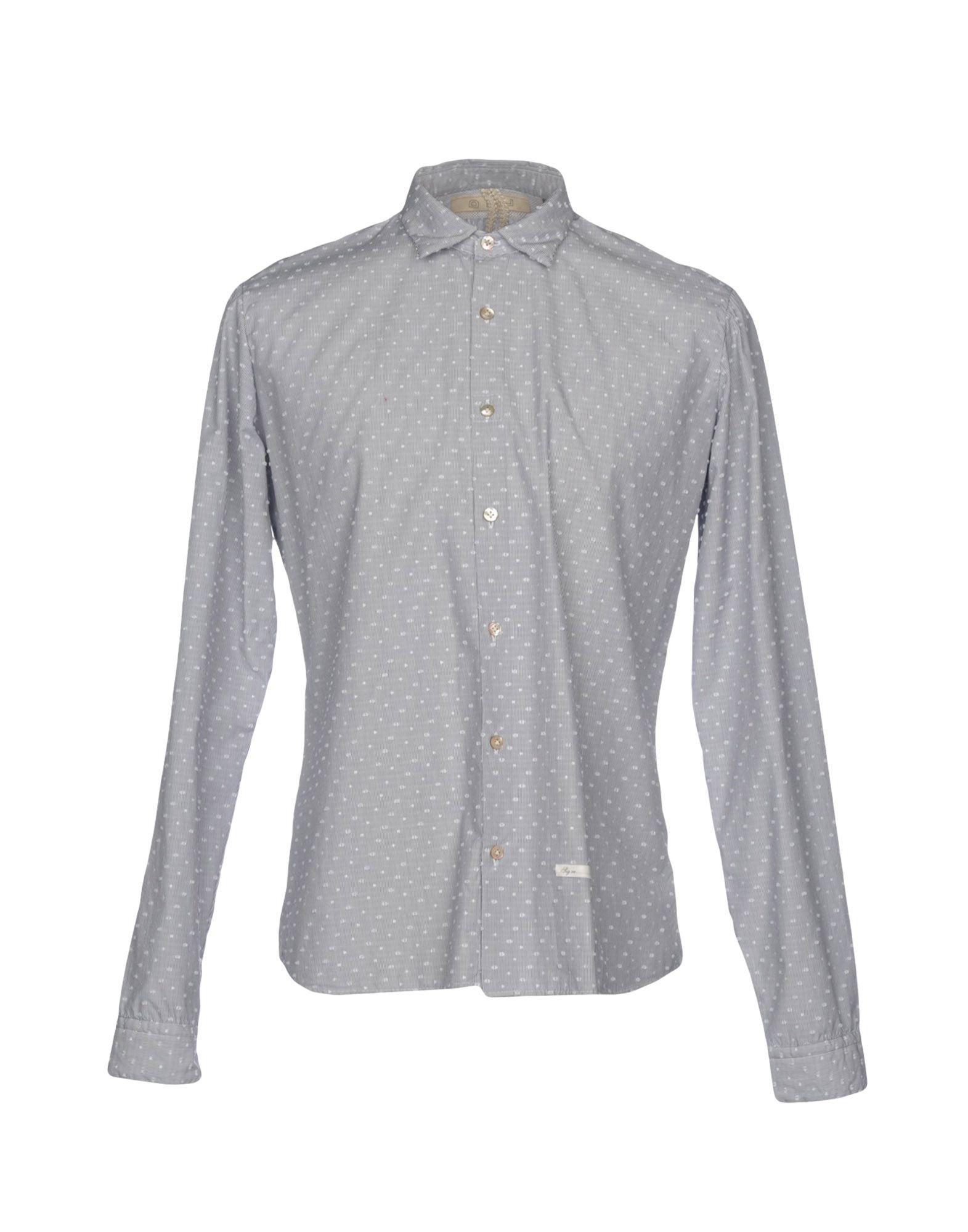 《送料無料》DISCRIMINATIONLESS メンズ シャツ グレー 40 コットン 100%