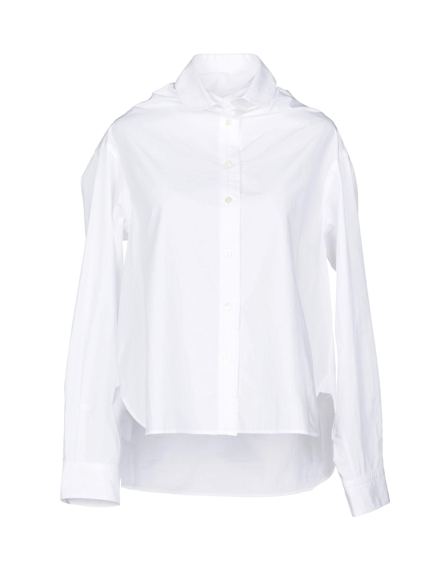 SAKAYORI. Solid Color Shirts & Blouses in White