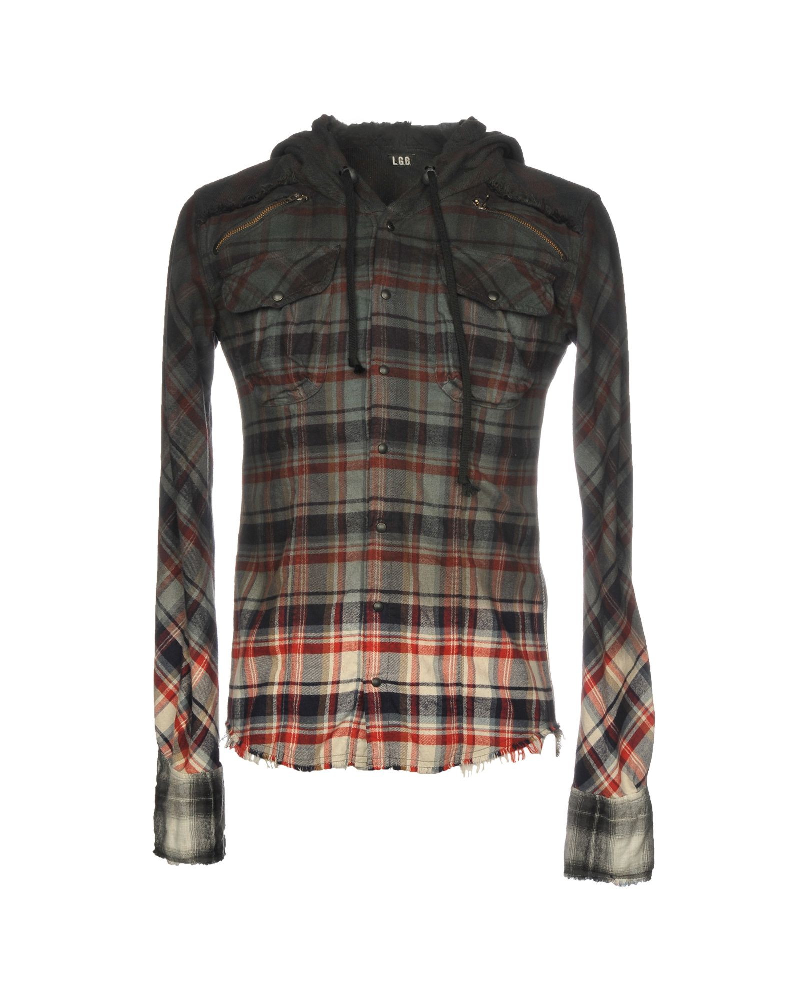 L.G.B. Checked Shirt in Lead