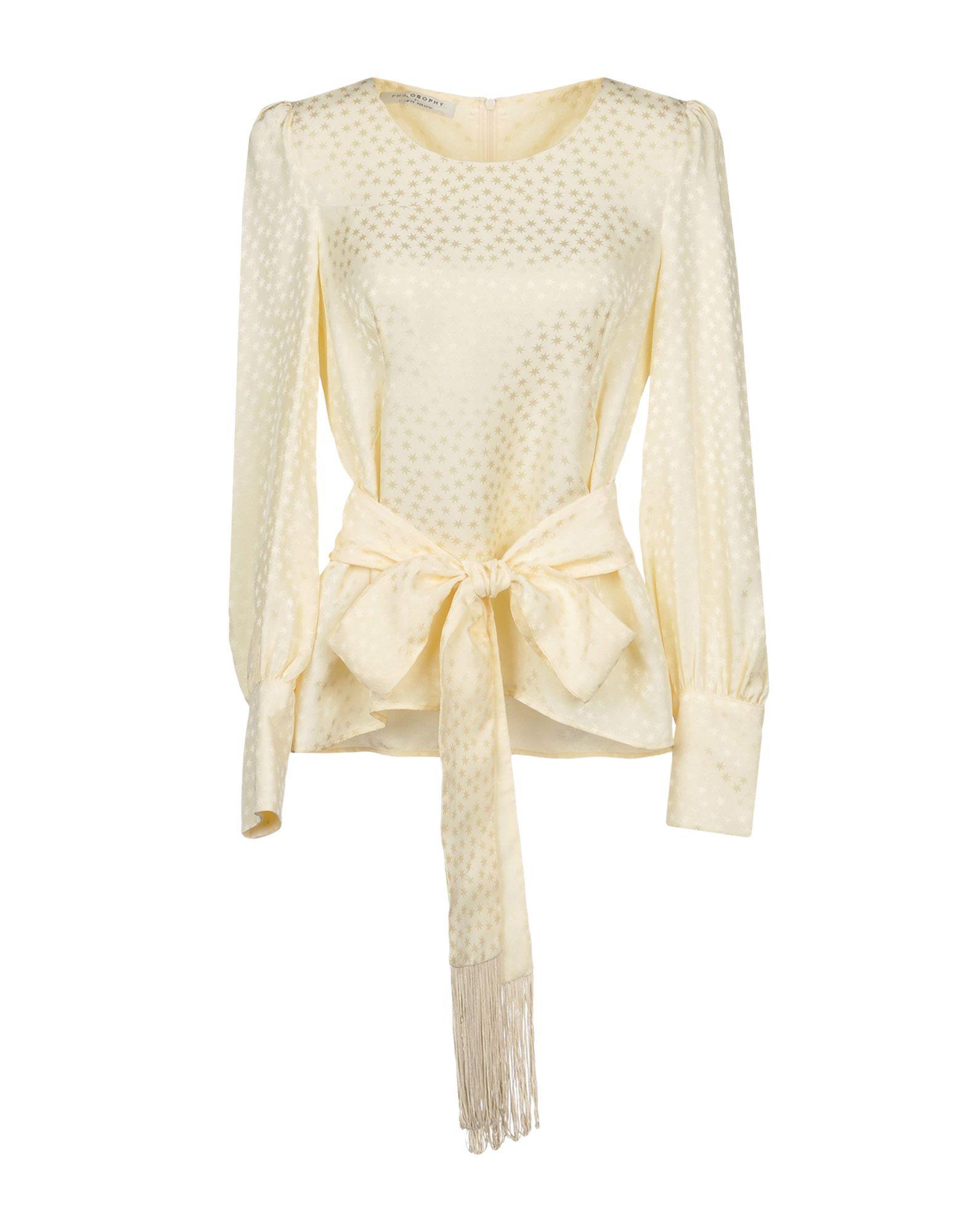 PHILOSOPHY di LORENZO SERAFINI Блузка цены онлайн