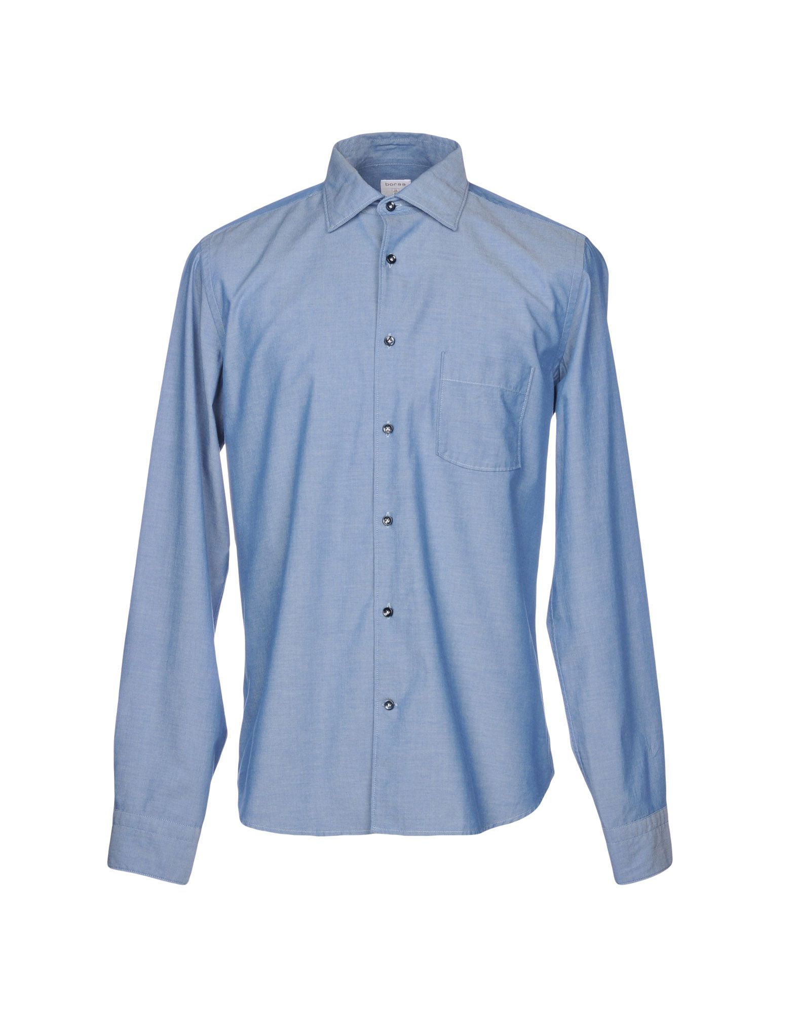 BORSA Solid Color Shirt in Blue