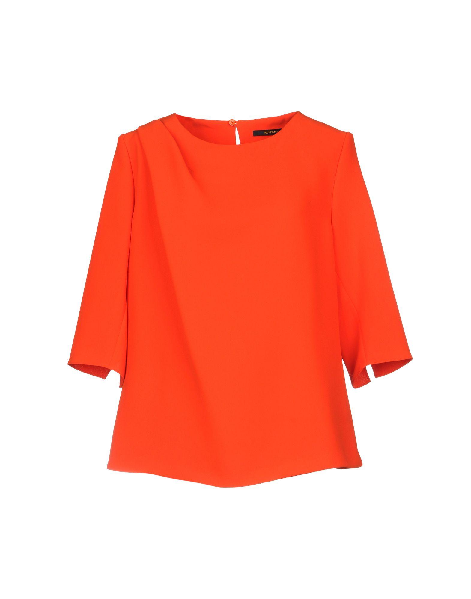 《セール開催中》NATAN+ レディース ブラウス オレンジ 48 ポリエステル 100%