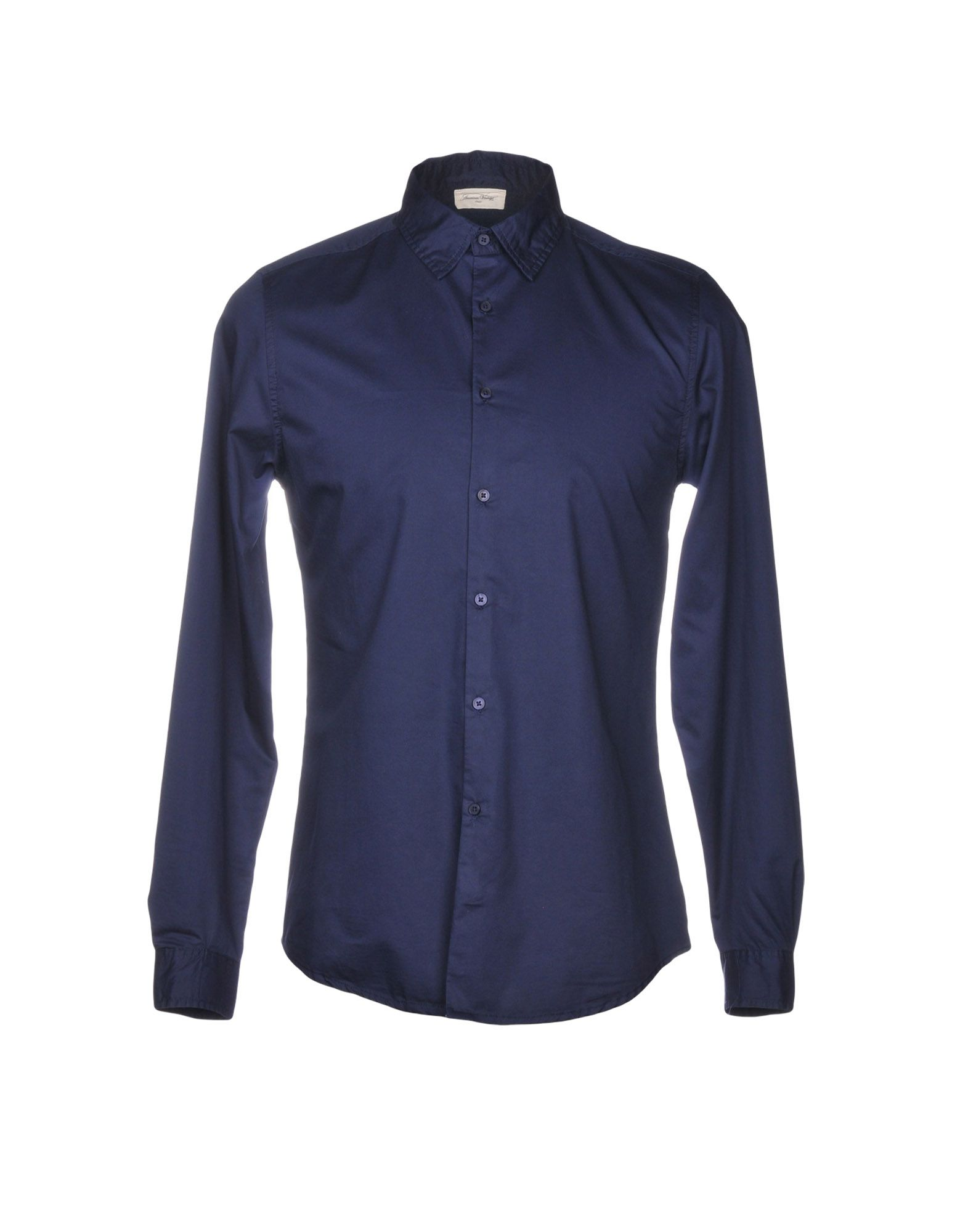 AMERICAN VINTAGE Solid Color Shirt in Blue