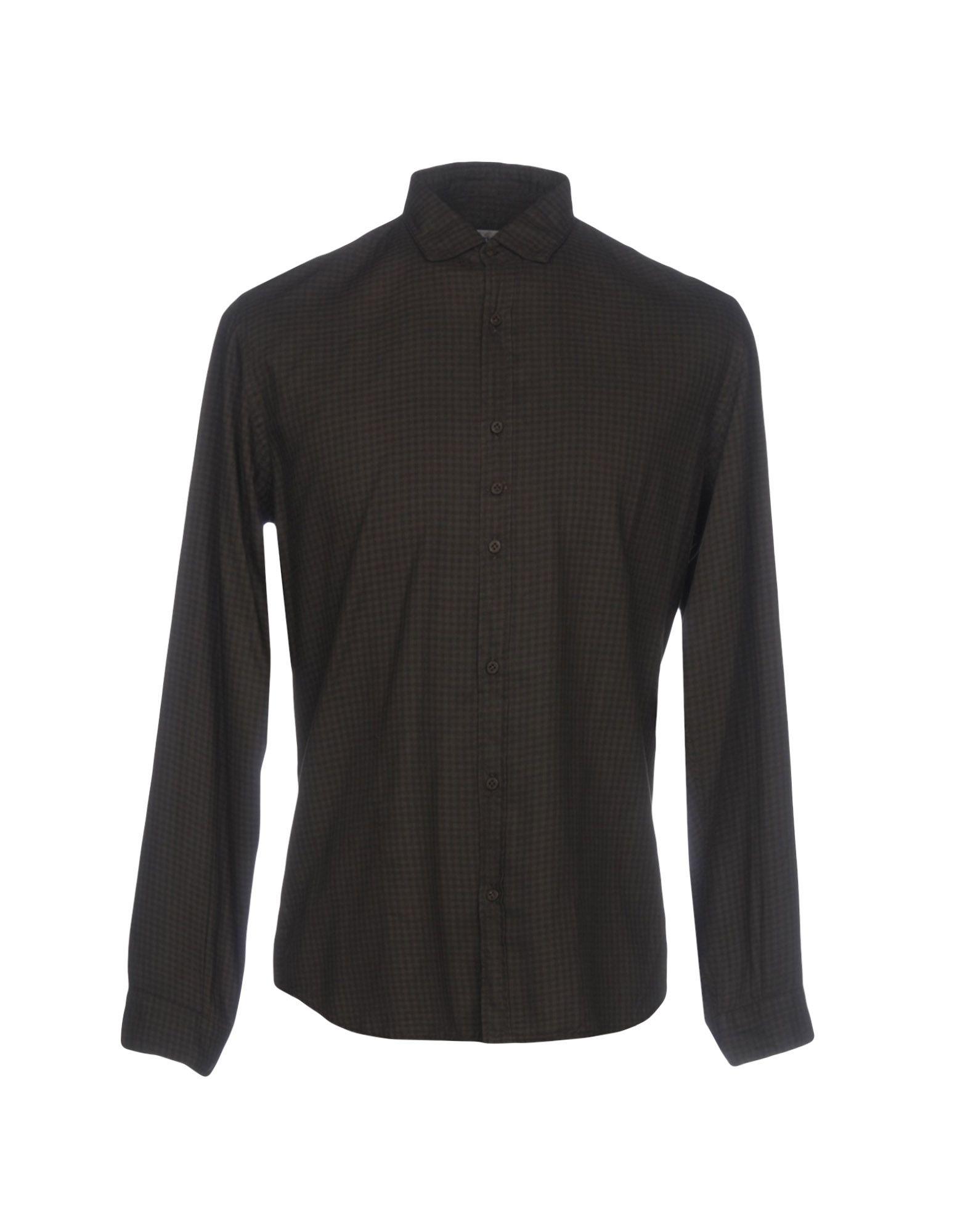 《送料無料》COSTUMEIN メンズ シャツ ダークブラウン 48 コットン 100%