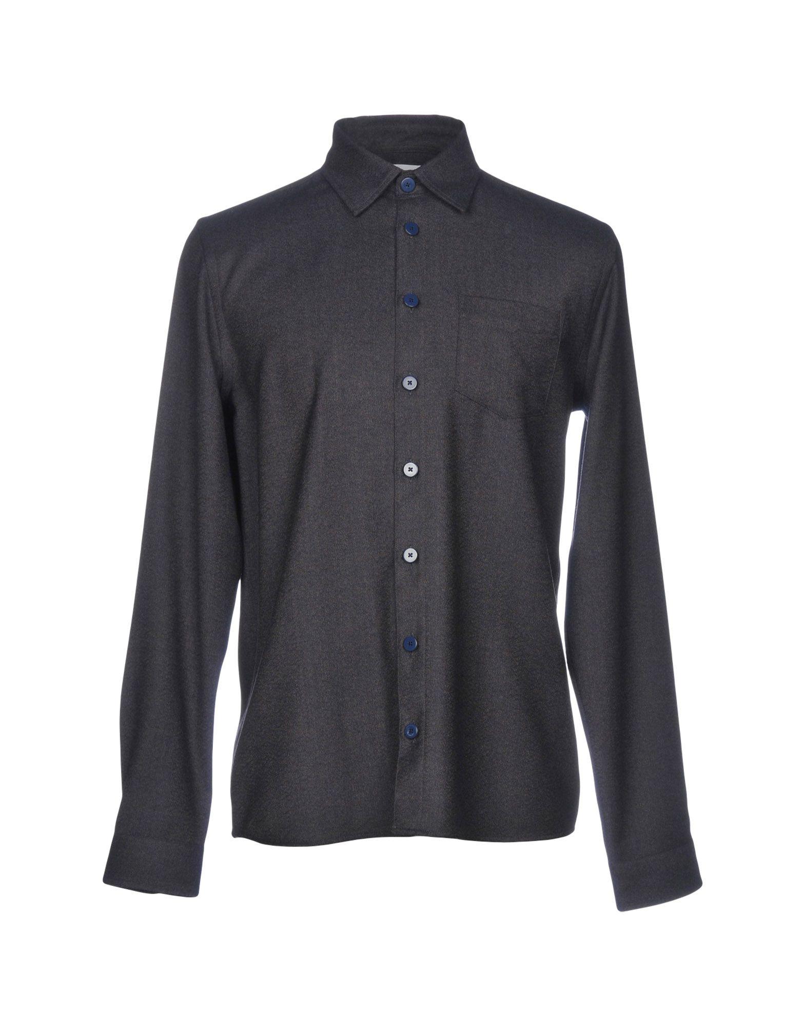 《セール開催中》LIBERTINE-LIBERTINE メンズ シャツ ダークブルー XS ウール 98% / ポリウレタン 2%