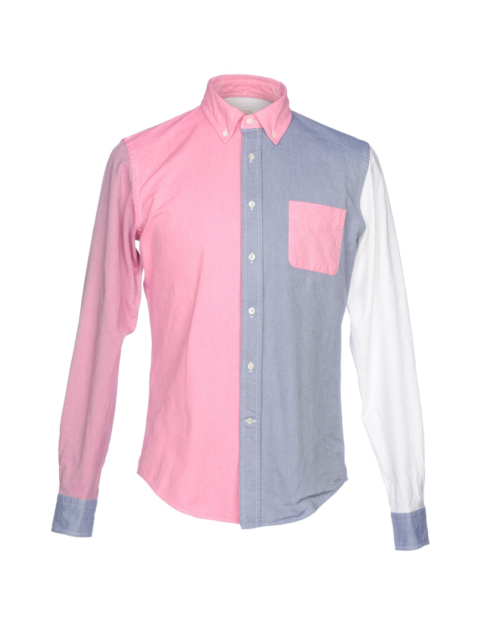 WOOSTER + LARDINI Patterned Shirt in Pink