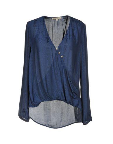 Купить Женскую блузку  темно-синего цвета