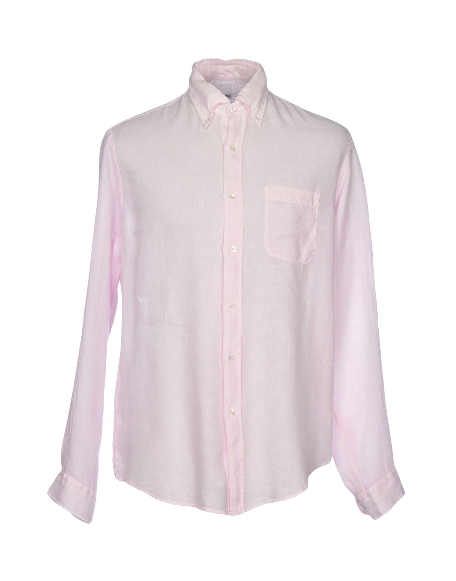 ROBERT FRIEDMAN Linen Shirt in Pink