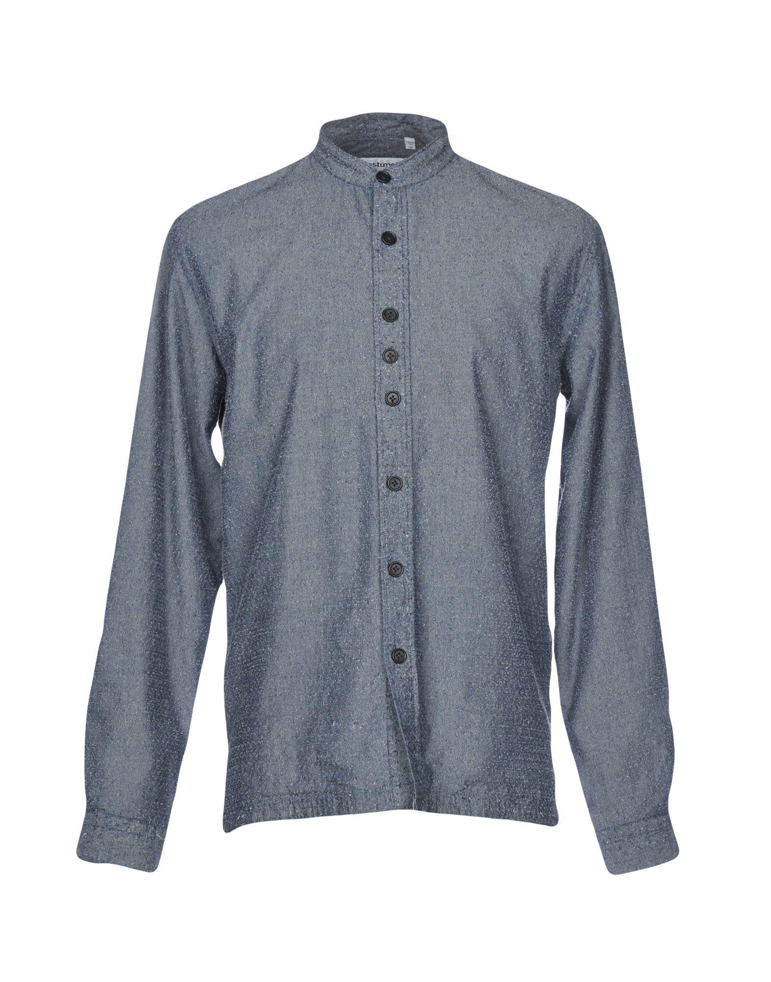 《送料無料》COSTUMEIN メンズ シャツ ブルーグレー 50 コットン 100%
