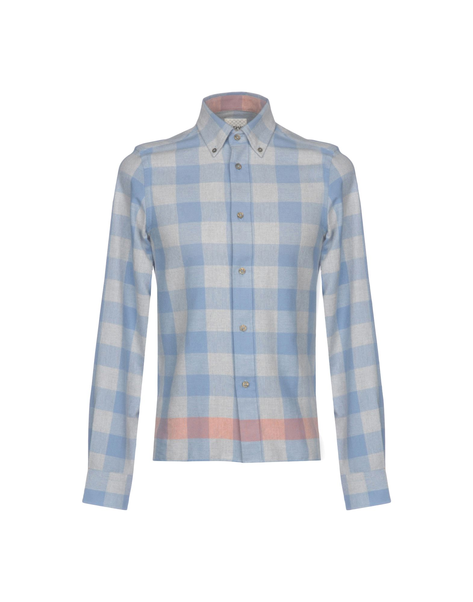 GINGHAM SHIRT FACTORY by BEN SHERMAN Pубашка gingham frill trim pants
