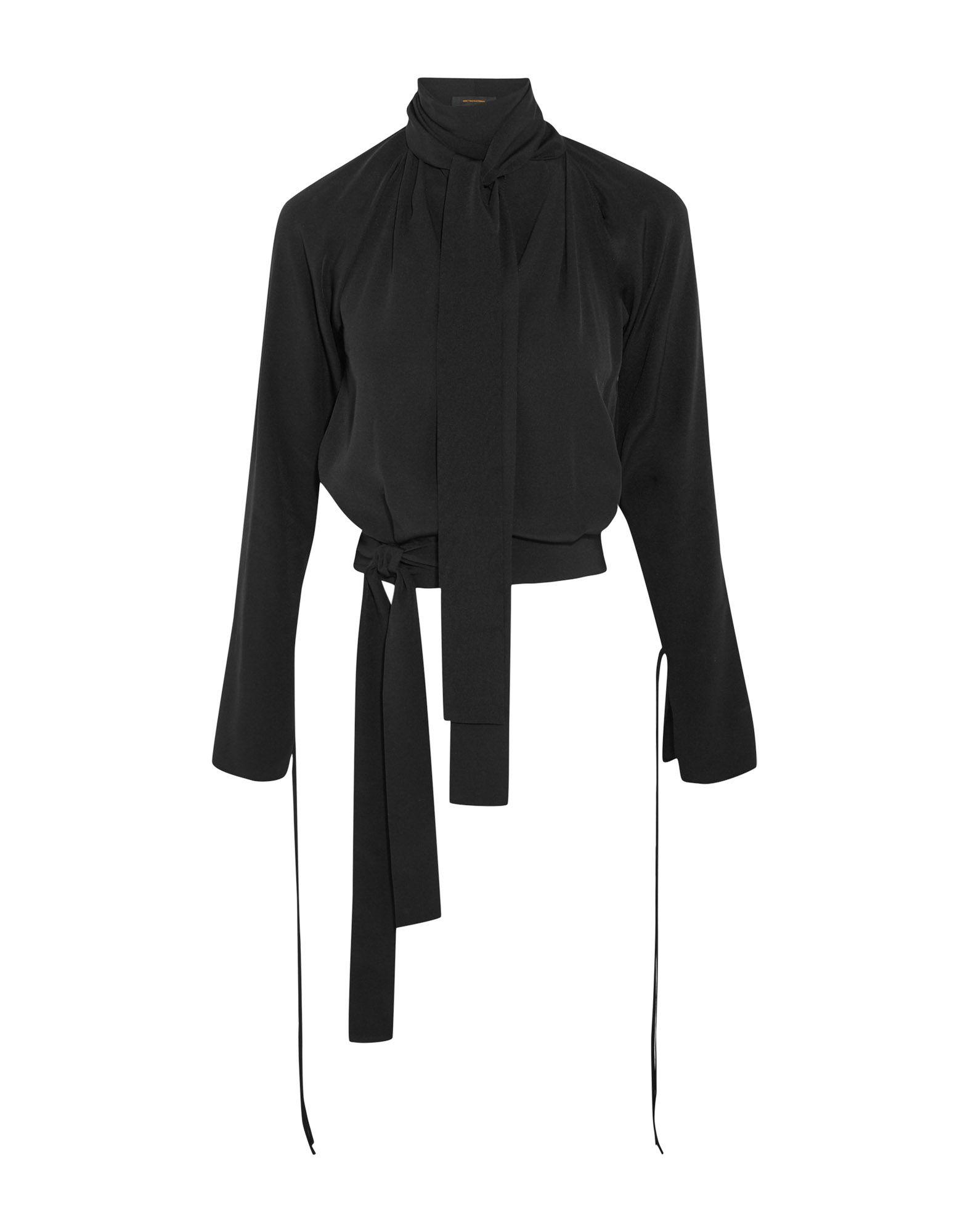 《送料無料》JUAN CARLOS OBANDO レディース T シャツ ブラック 12 シルク 100%
