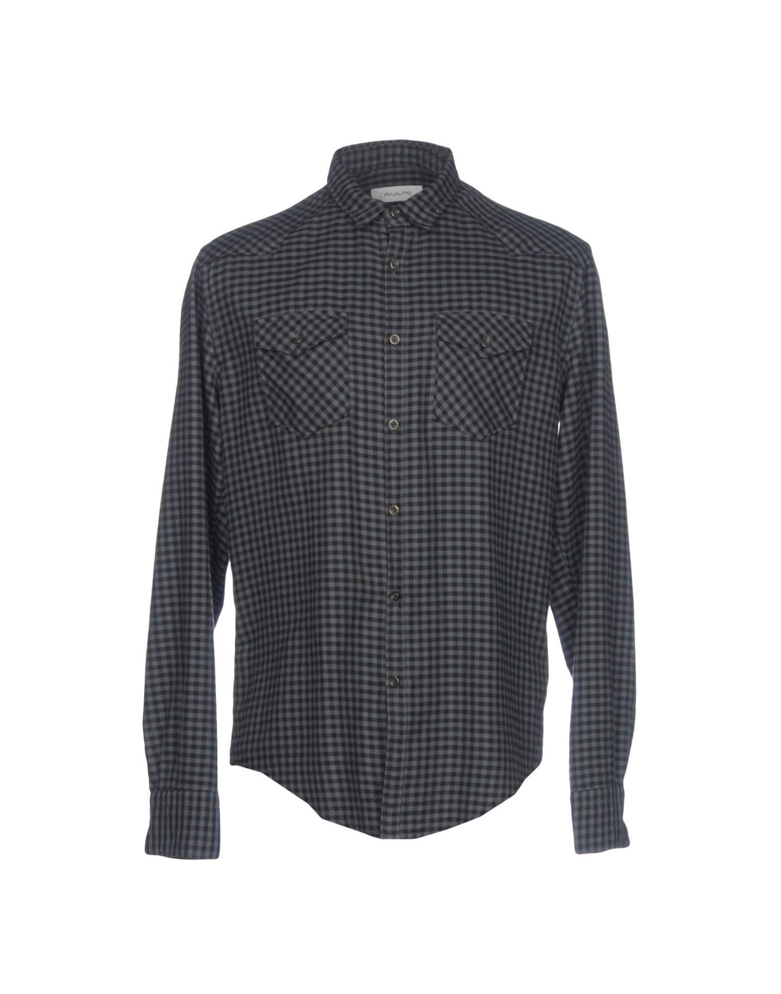 AGLINI Checked Shirt in Grey