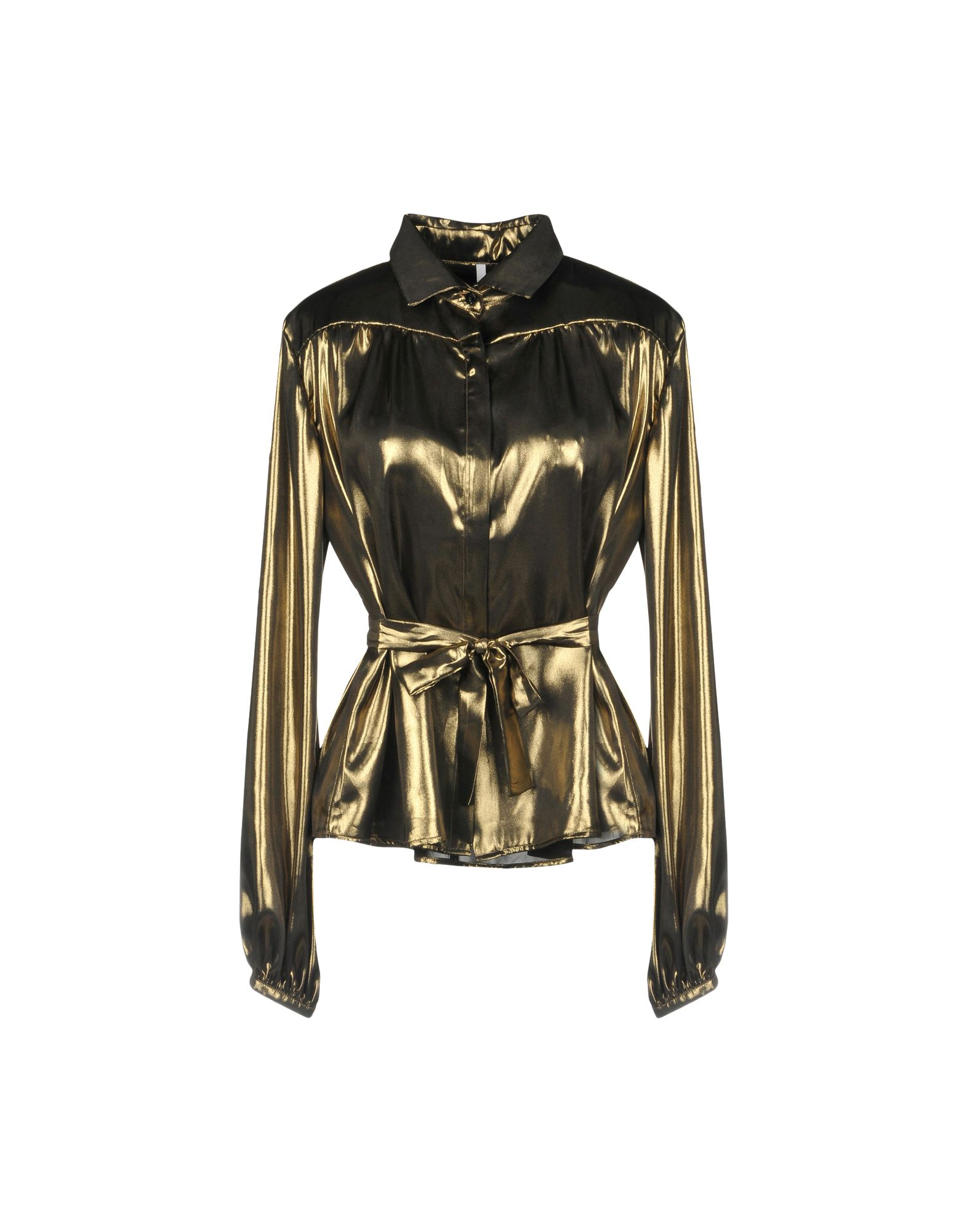 ALCOOLIQUE Solid Color Shirts & Blouses in Gold