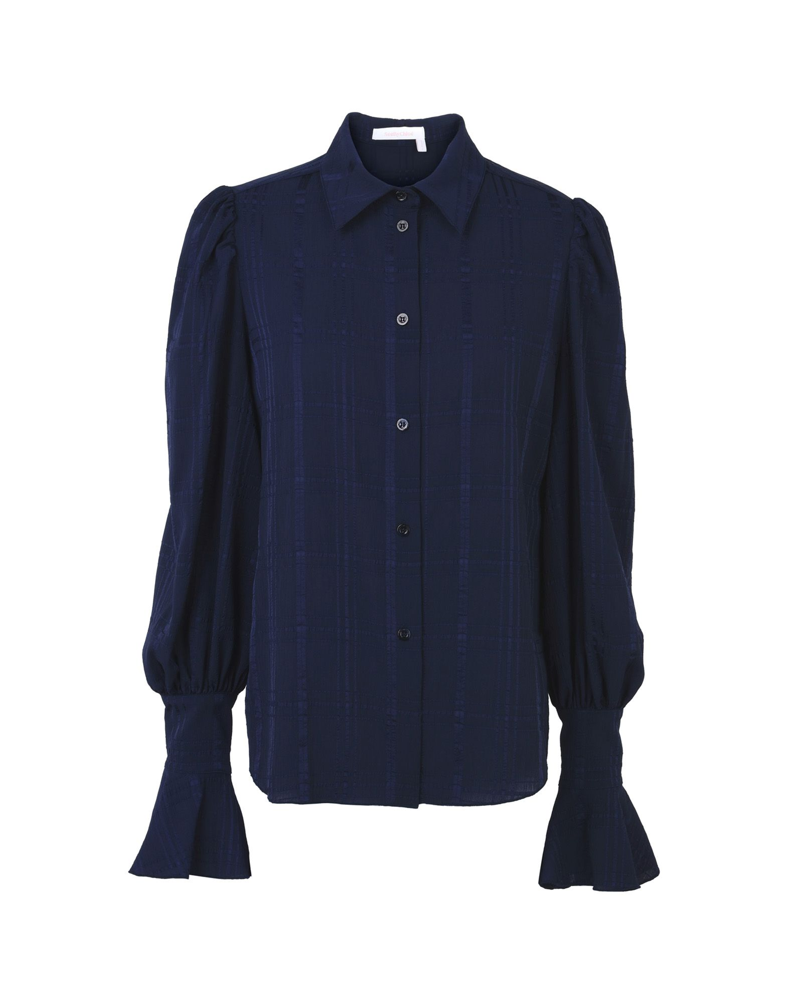 Solid Color Shirts & Blouses, Dark Blue
