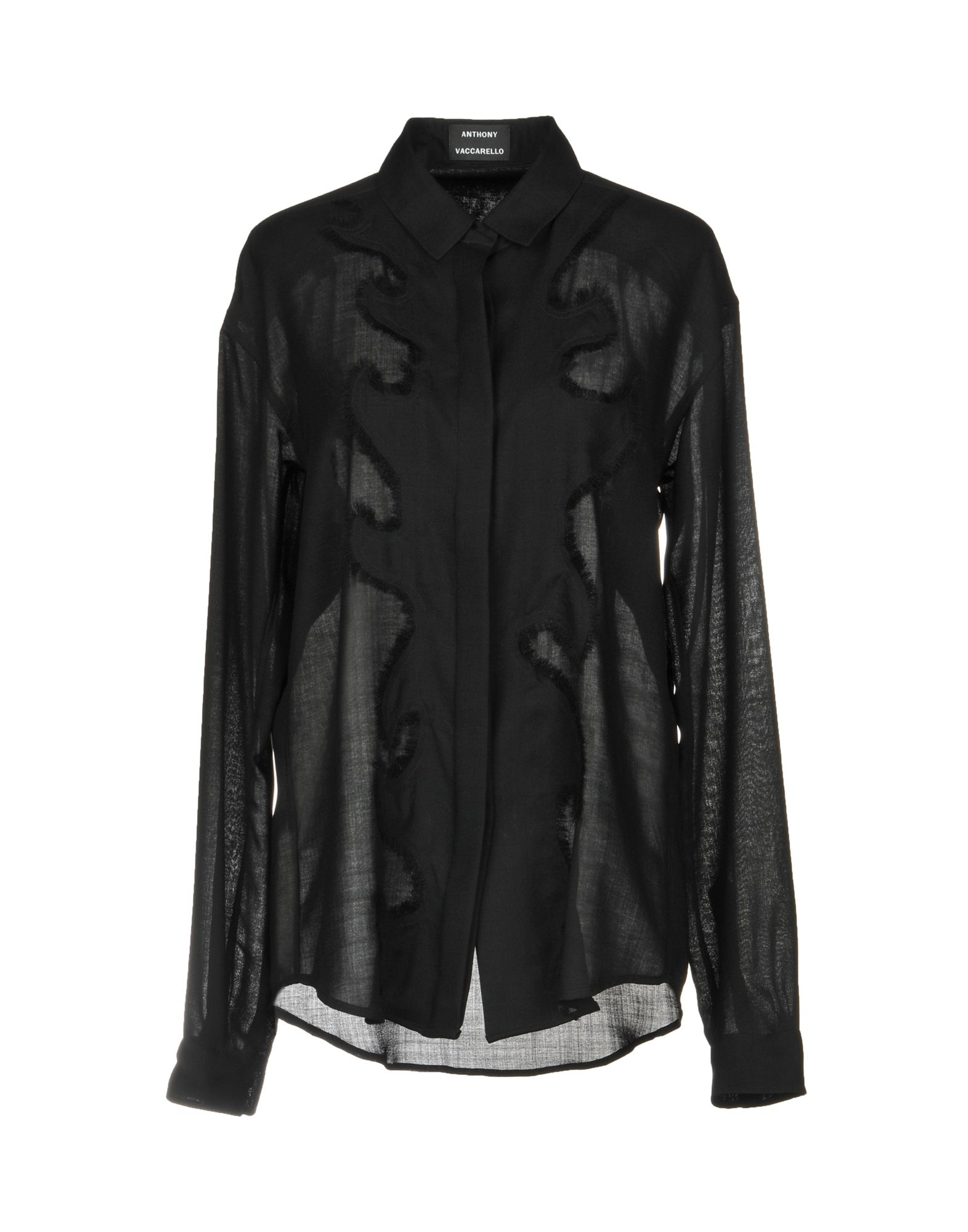 ANTHONY VACCARELLO Solid Color Shirts & Blouses in Black
