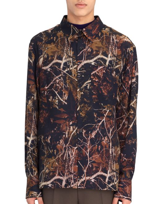 "OVERSIZED ""FOREST CAMOUFLAGE"" SHIRT - Lanvin"