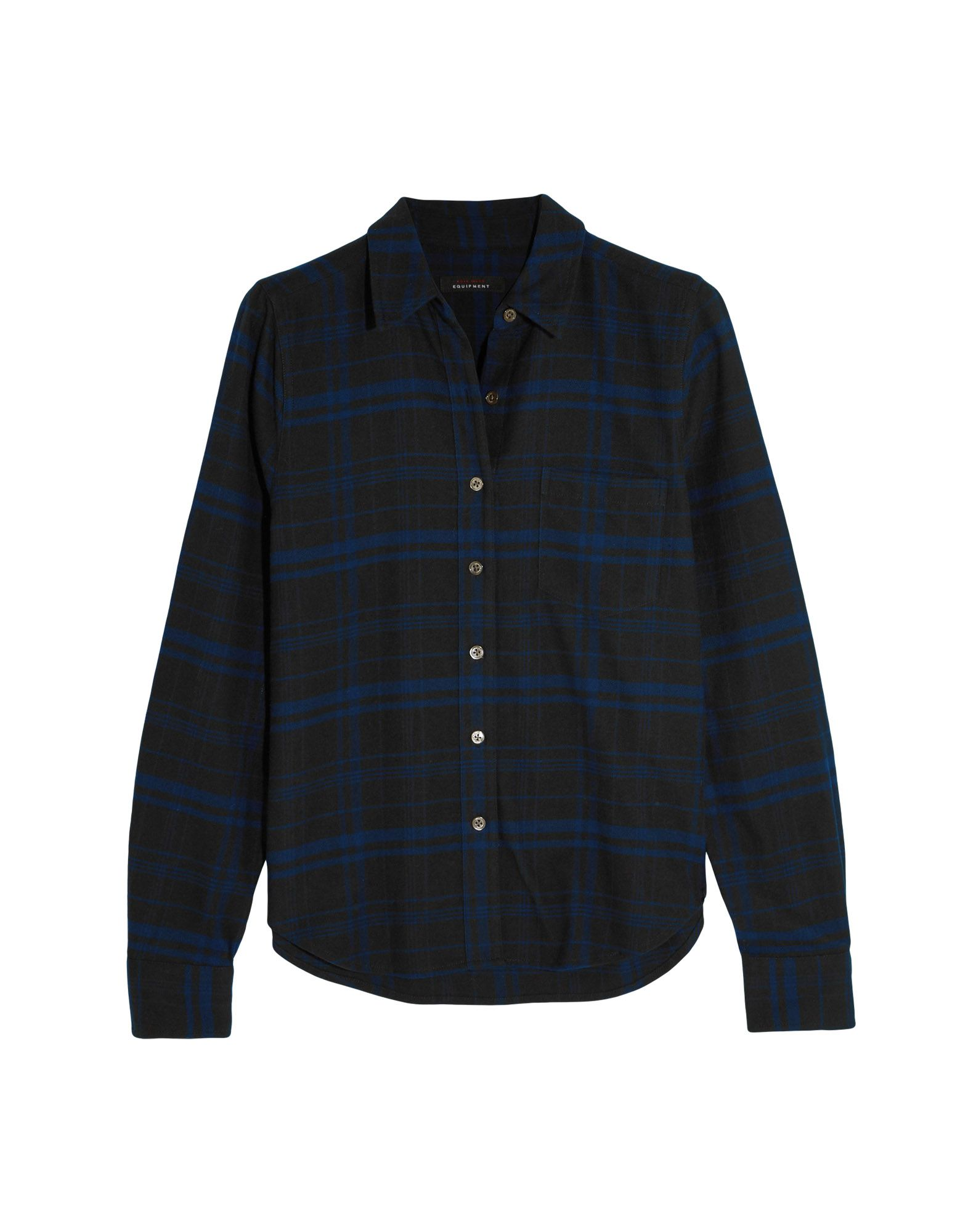 KATE MOSS EQUIPMENT Checked Shirt in Dark Blue