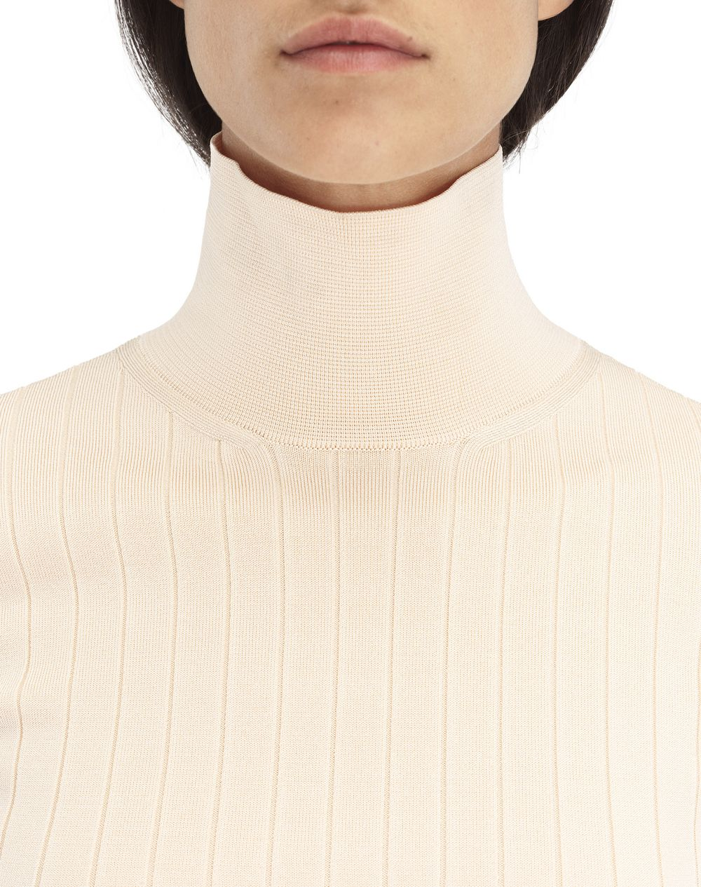 POWDER PINK TURTLENECK SWEATER - Lanvin