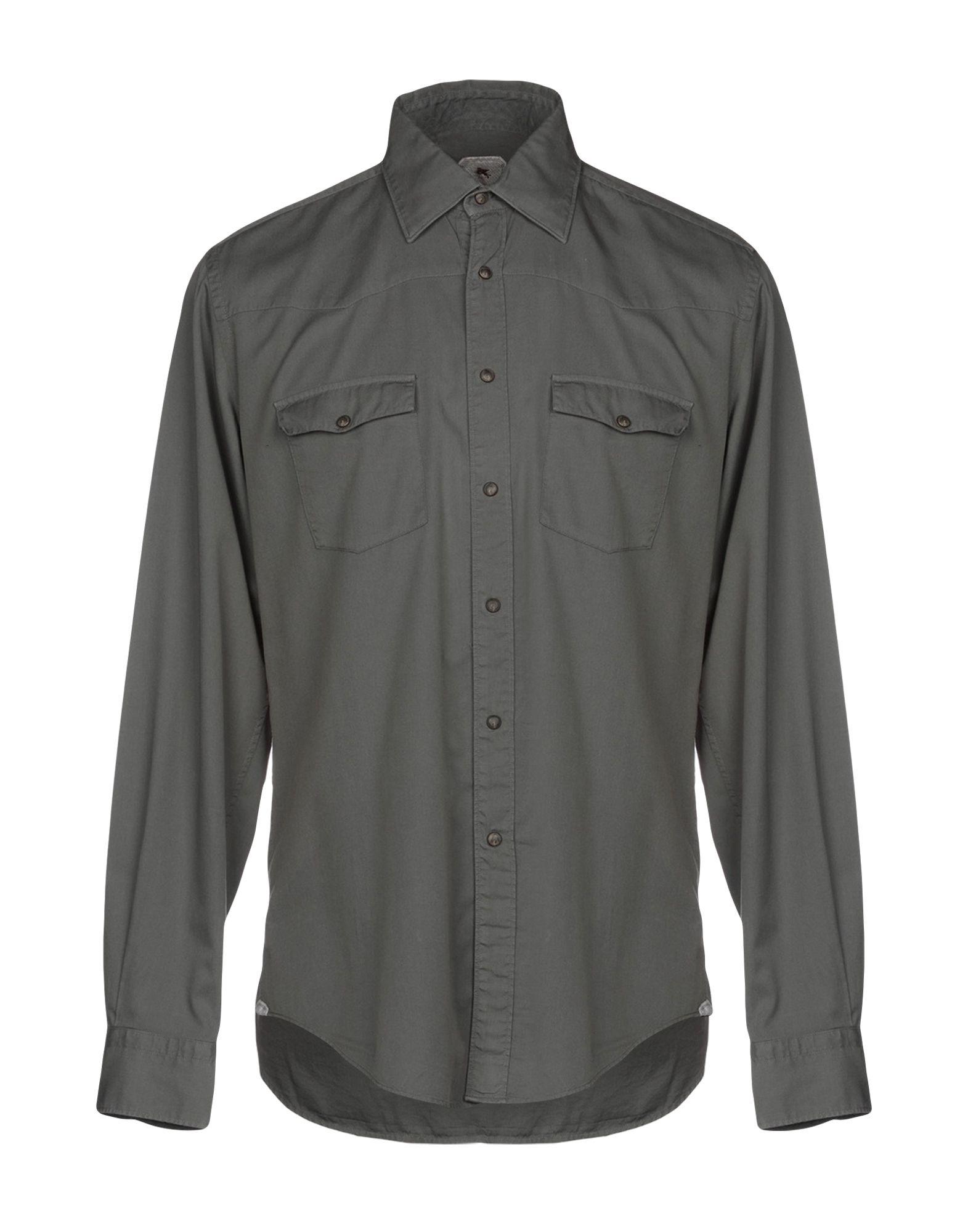 《セール開催中》PAL ZILERI CONCEPT メンズ シャツ グレー 41 コットン 100%