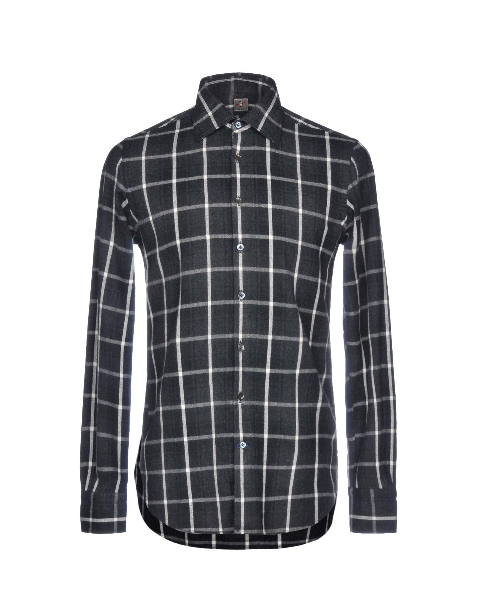 《期間限定 セール開催中》OTTO ASOLE メンズ シャツ 鉛色 42 コットン 100%