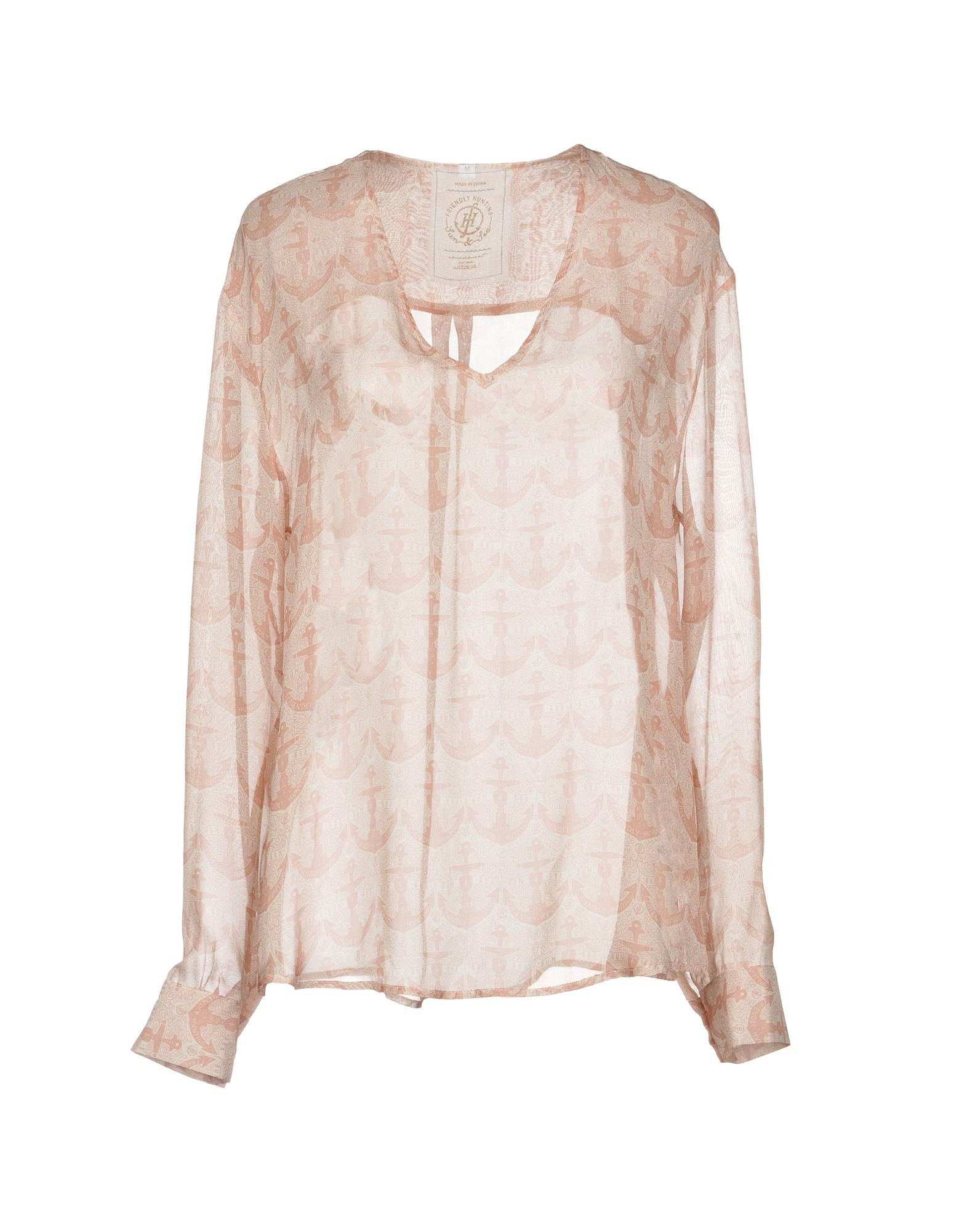 FRIENDLY HUNTING Blouse in Pale Pink