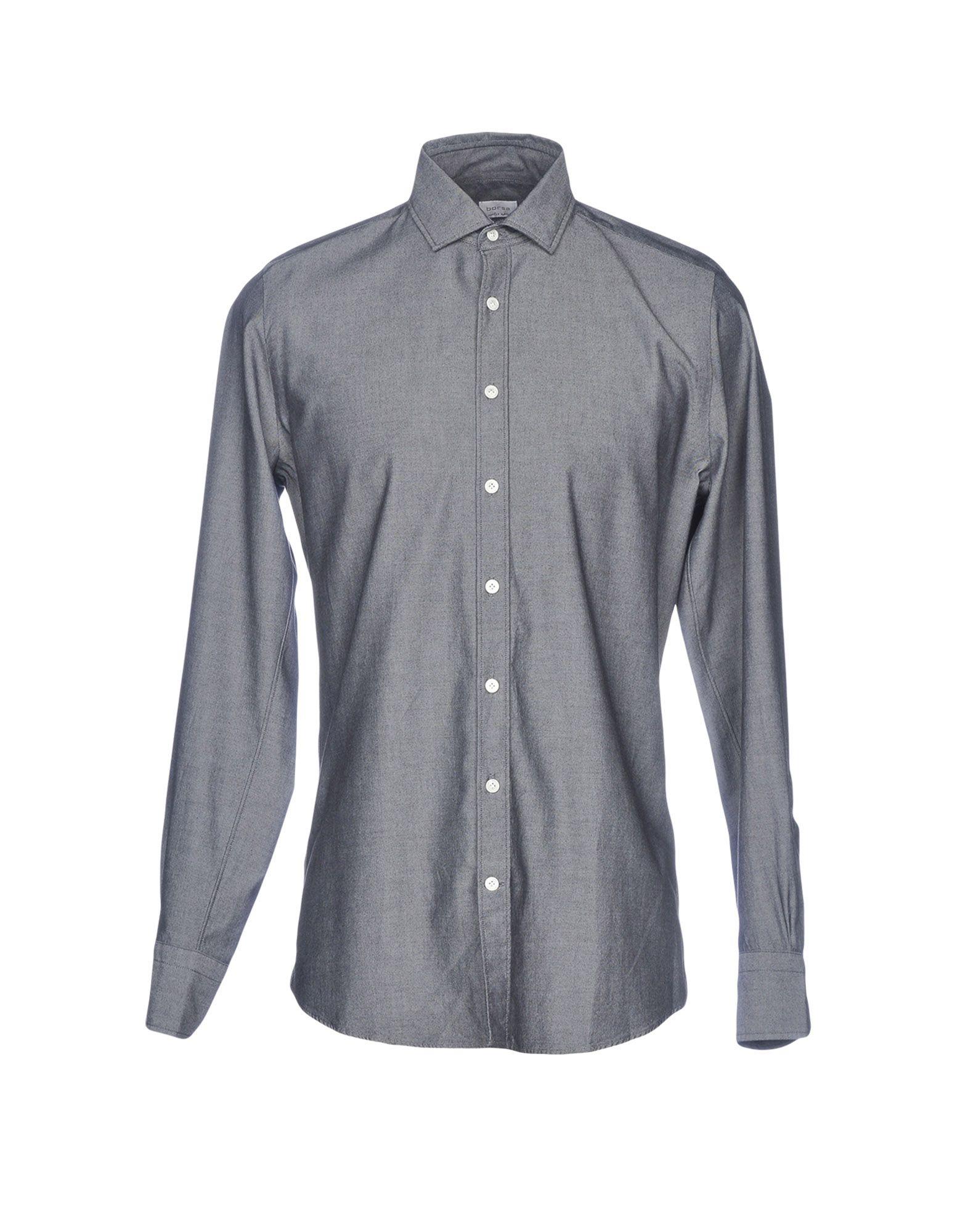 BORSA Solid Color Shirt in Steel Grey