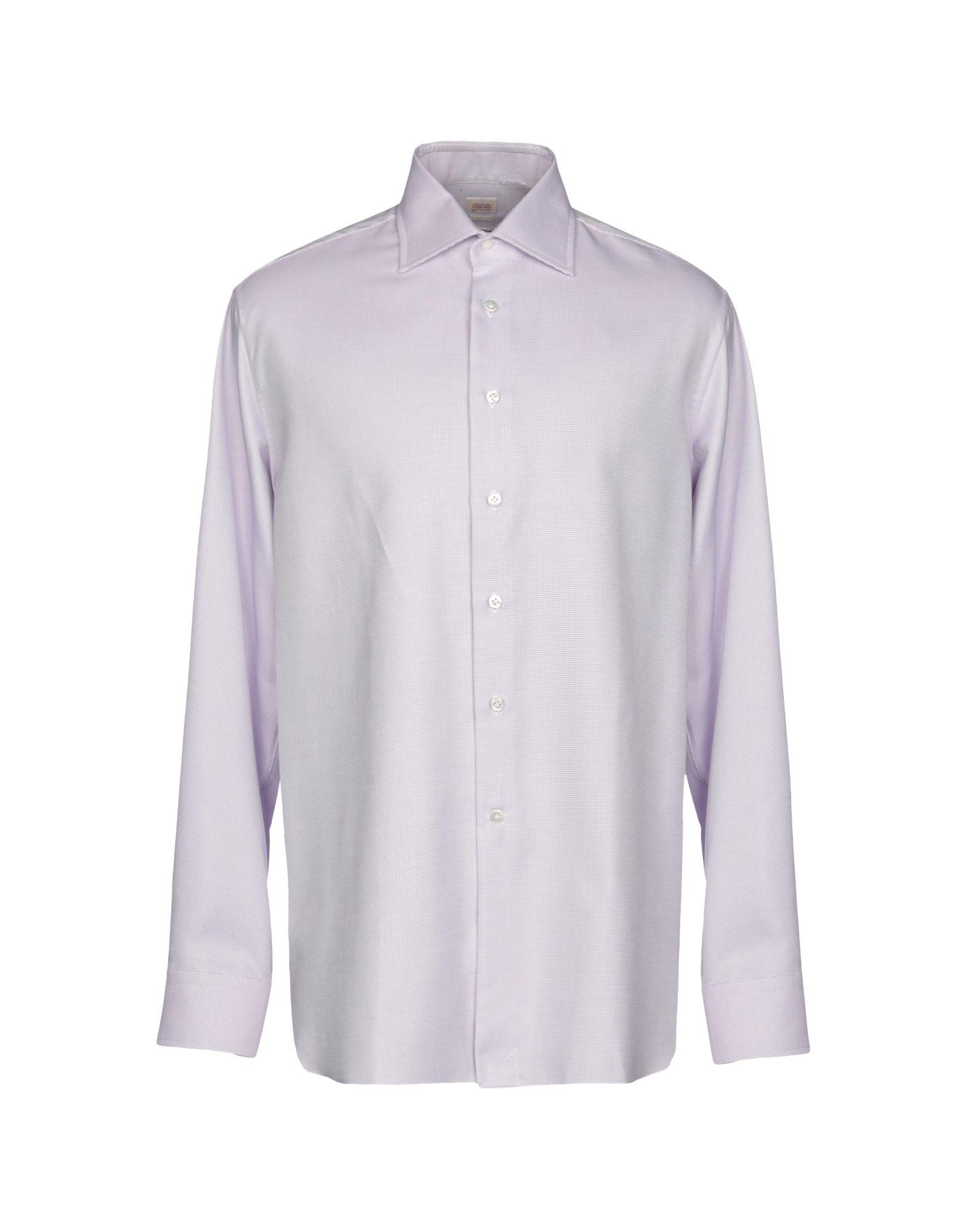 《送料無料》ALESSANDRO GHERARDI メンズ シャツ ライトパープル 44 コットン 100%