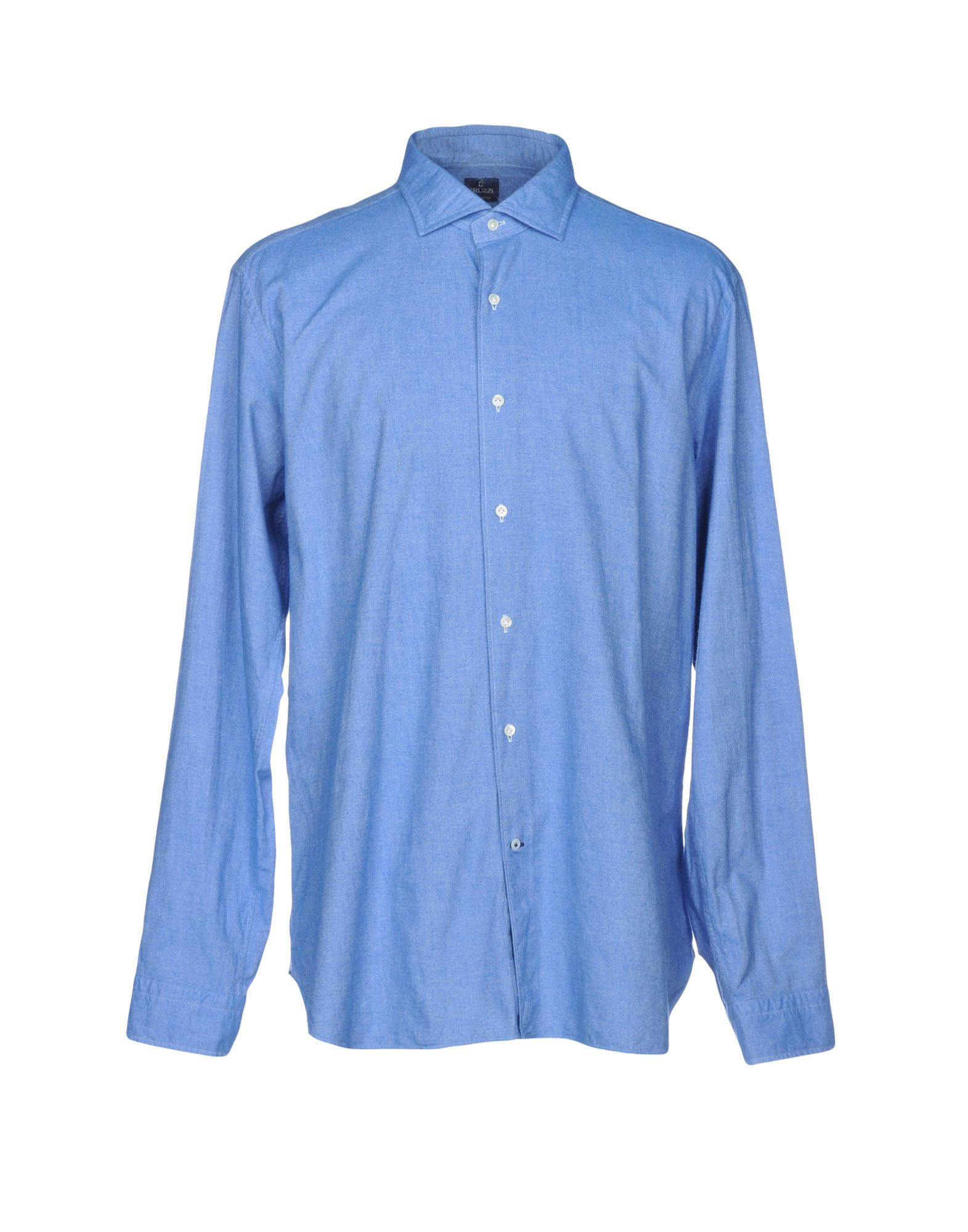 TRUZZI Solid Color Shirt in Azure
