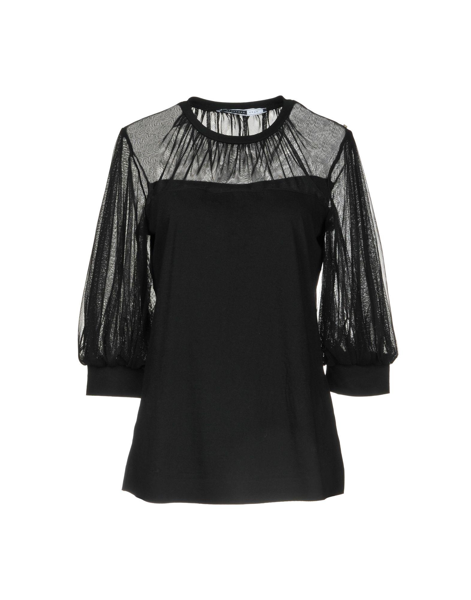 SPORTMAX CODE Damen Bluse Farbe Schwarz Größe 4
