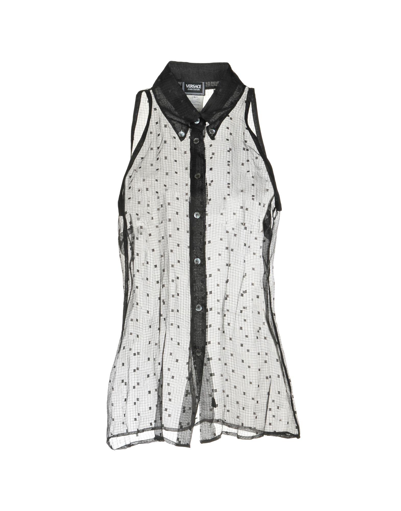 VERSACE JEANS COUTURE Pубашка versace jeans couture топ без рукавов