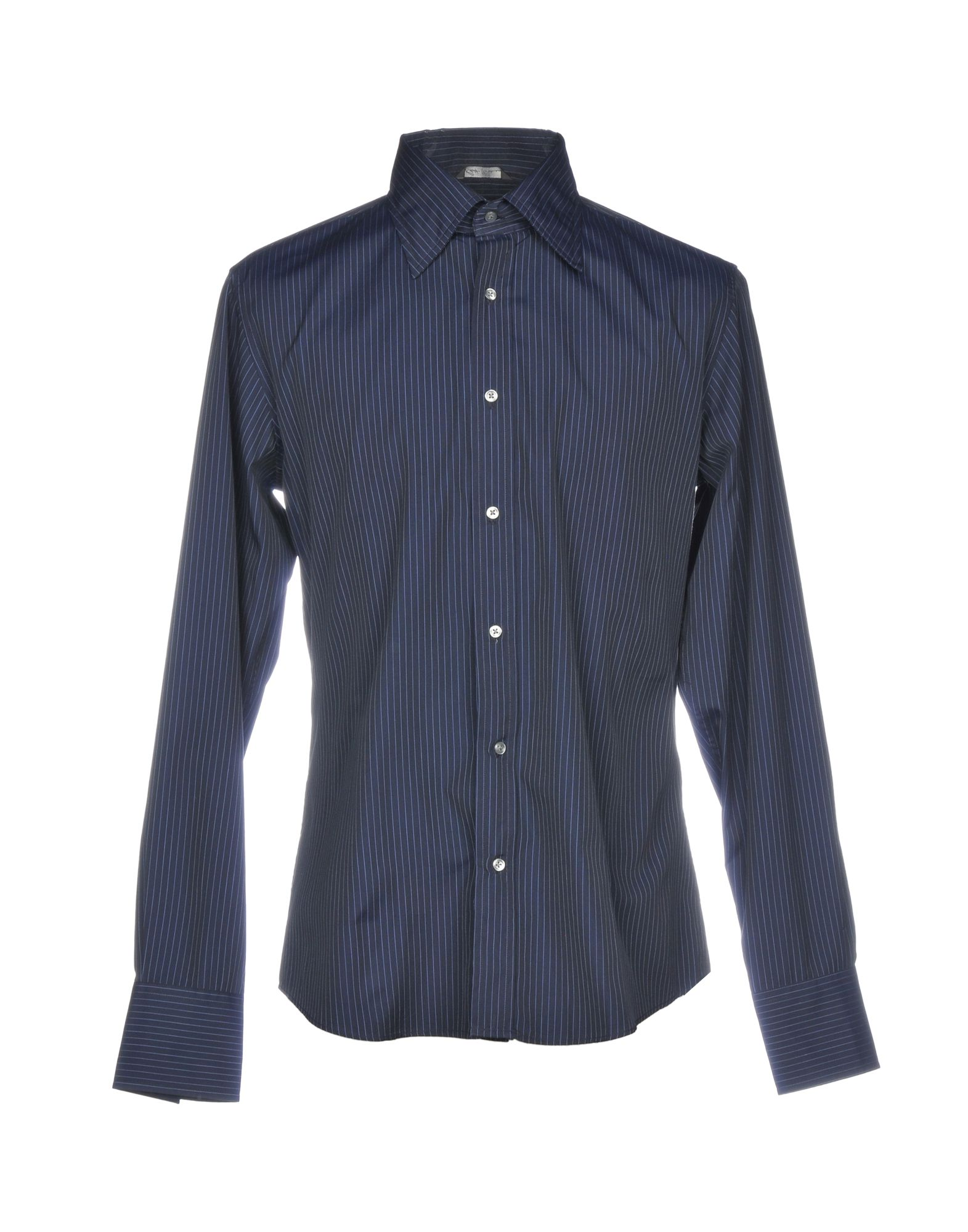 ROBERT FRIEDMAN Striped Shirt in Dark Blue